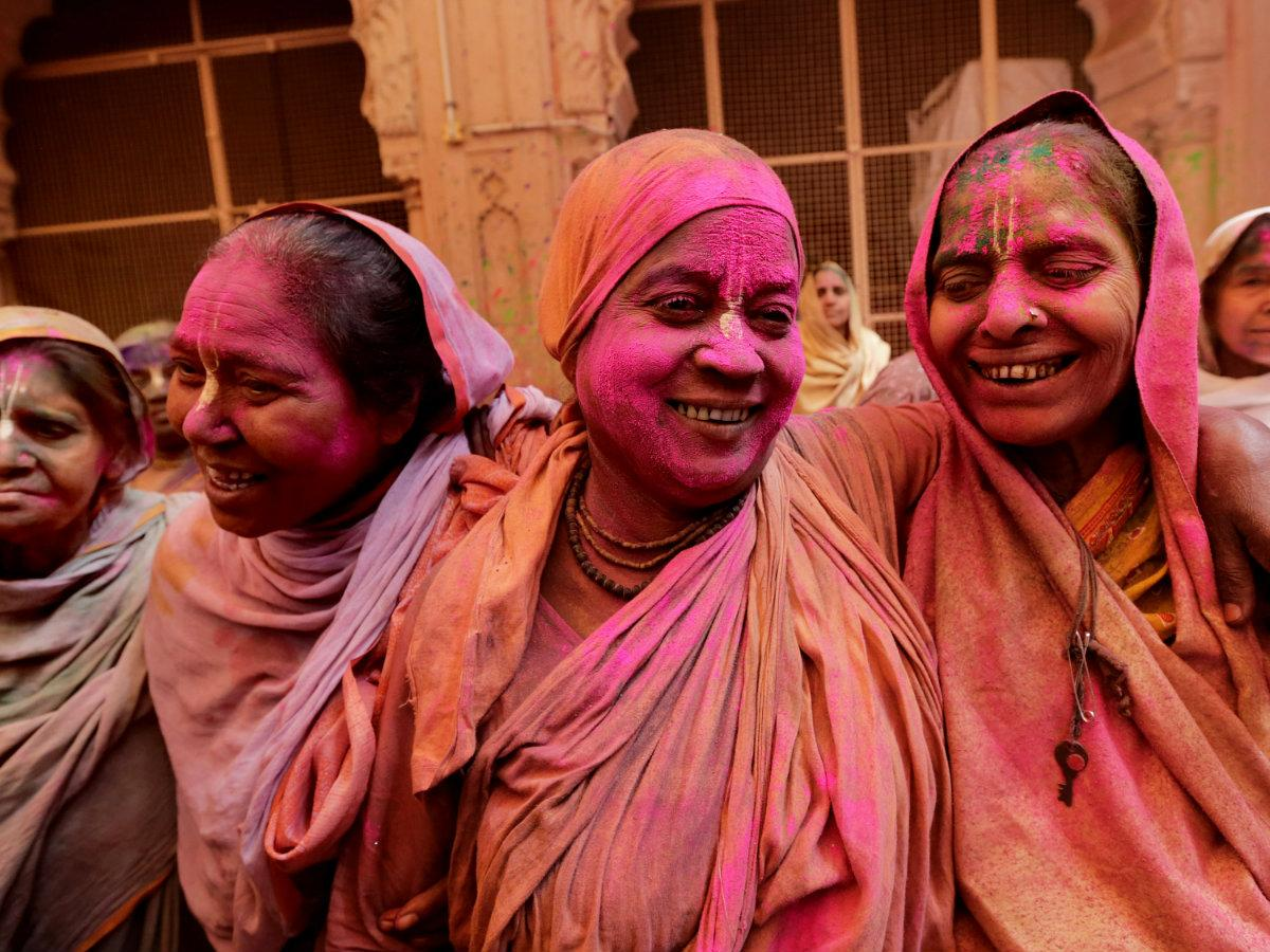 Indian Widows Colorfully Break A 400 Year Old Taboo To Celebrate