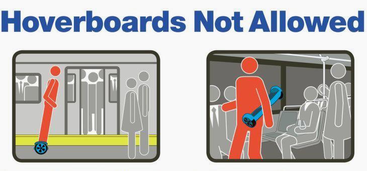 MTA hoverboard ban poster