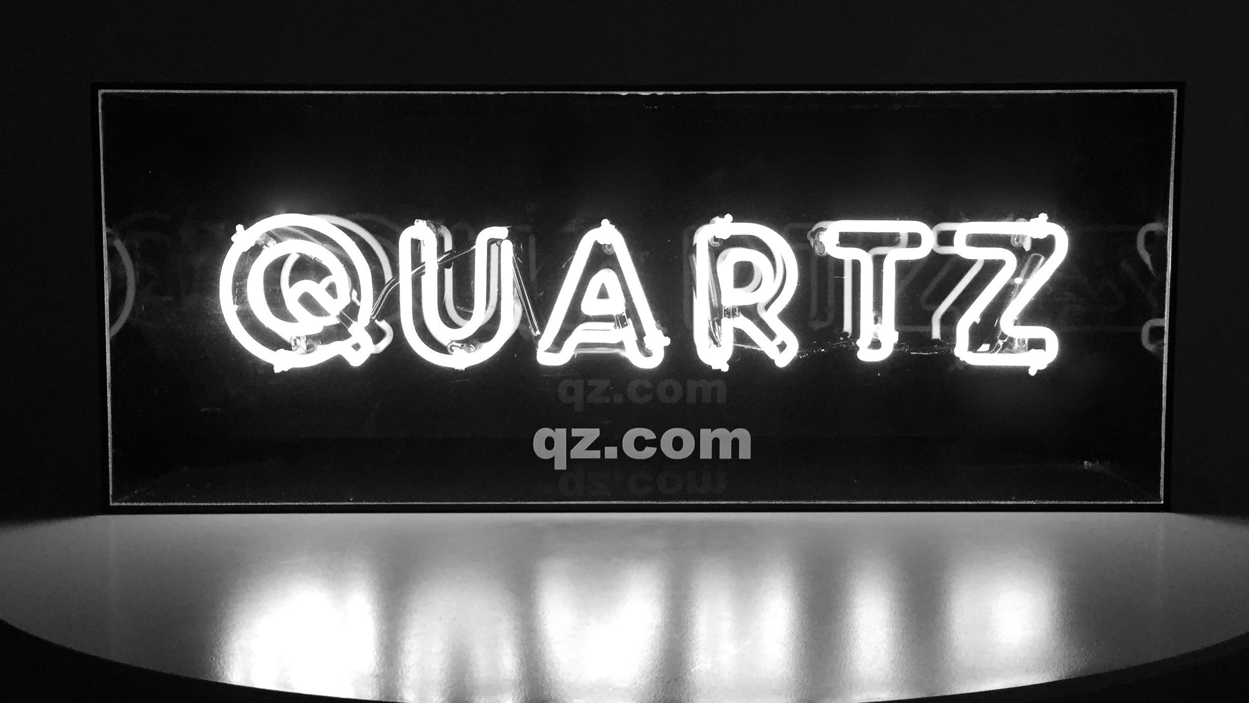 Quartz neon sign