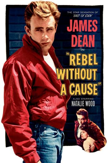 "A poster for ""Rebel Without a Cause"""
