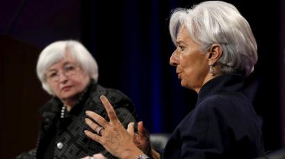 Federal Reserve Chair Janet Yellen and International Monetary Fund Managing Director Christine Lagarde