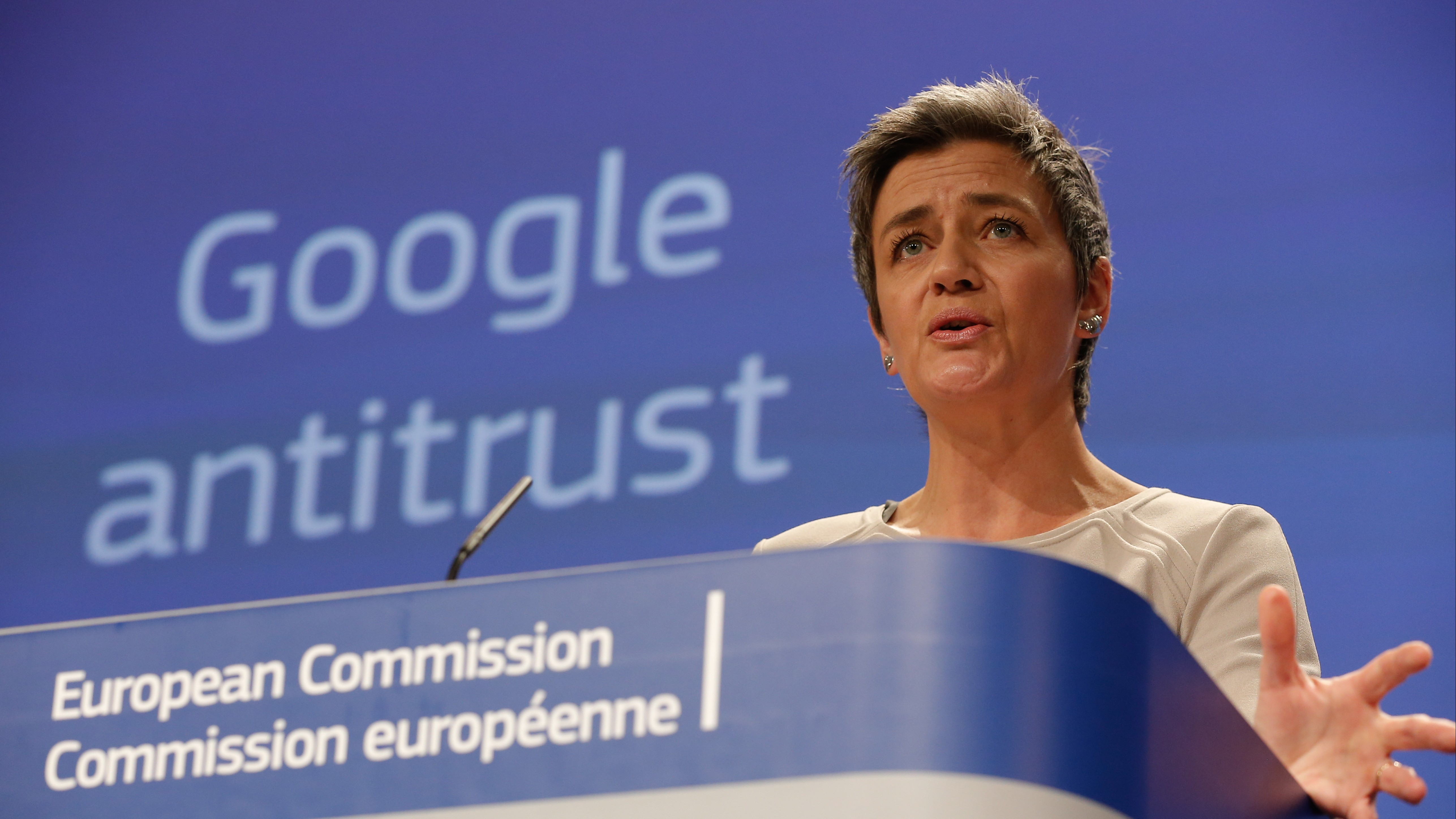 EU Commission news conference on Google