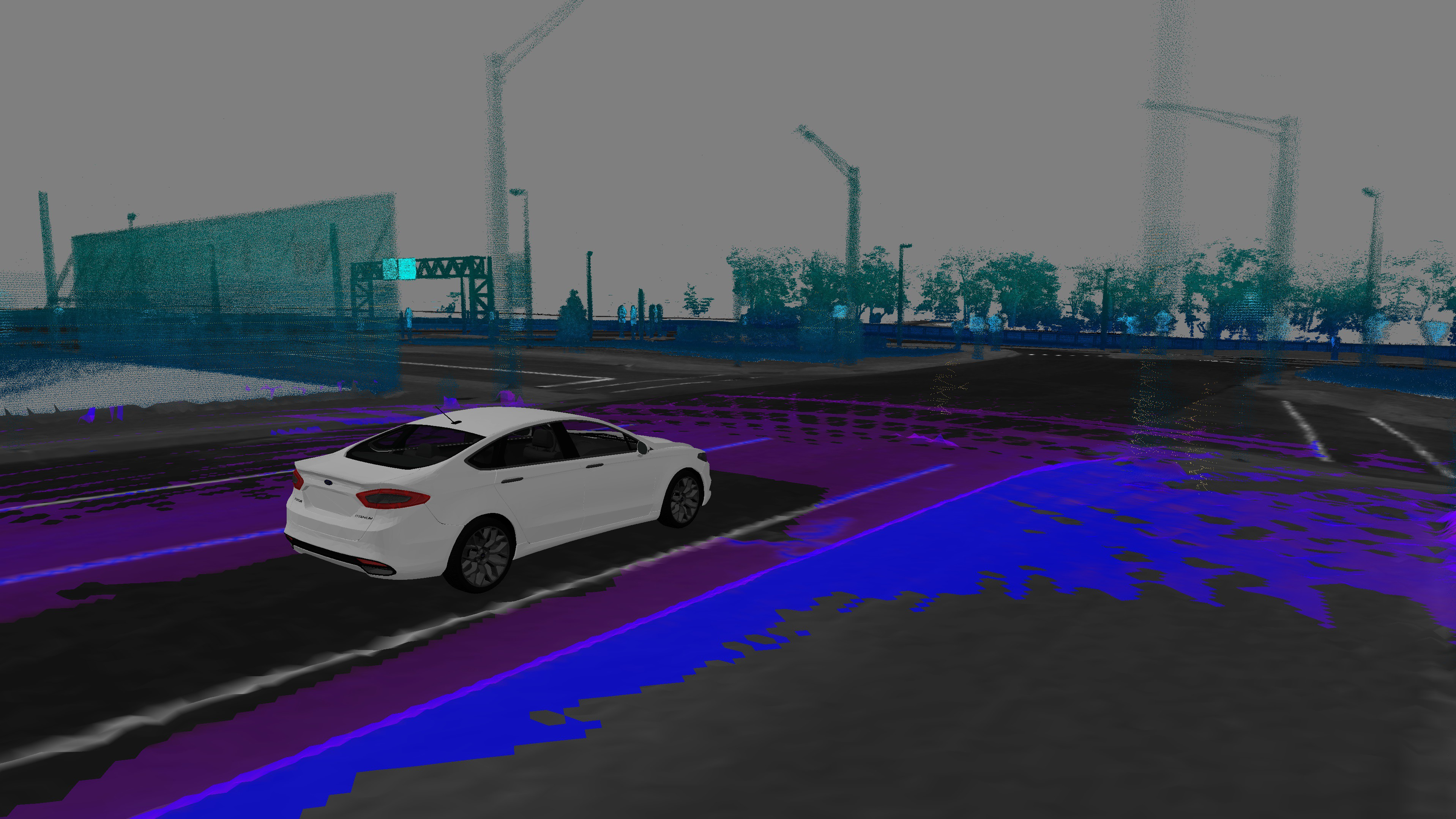 LiDar image of Ford driverless car environment.