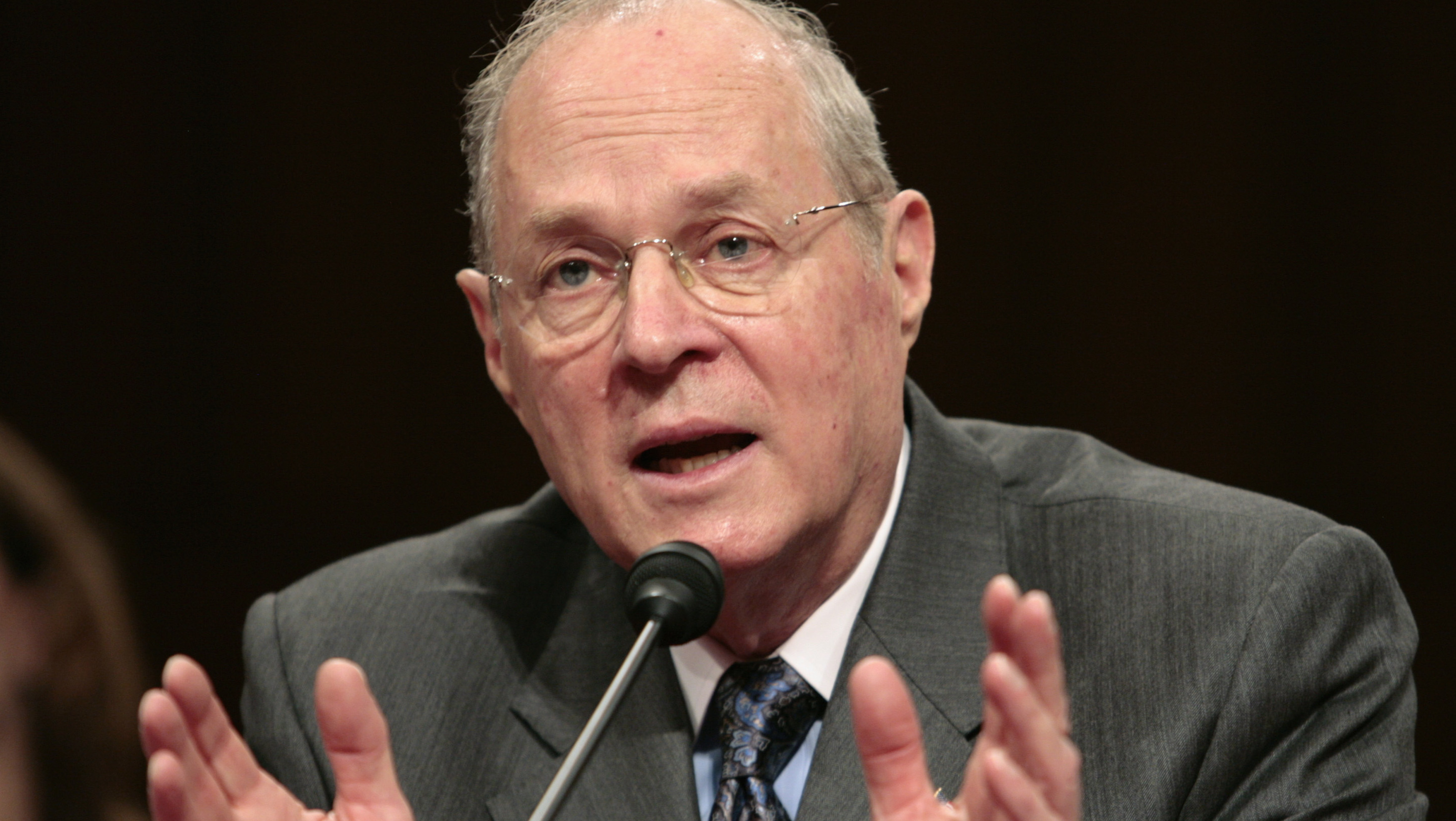 U.S. Supreme Court Justice Kennedy testifies on Capitol Hill in Washington