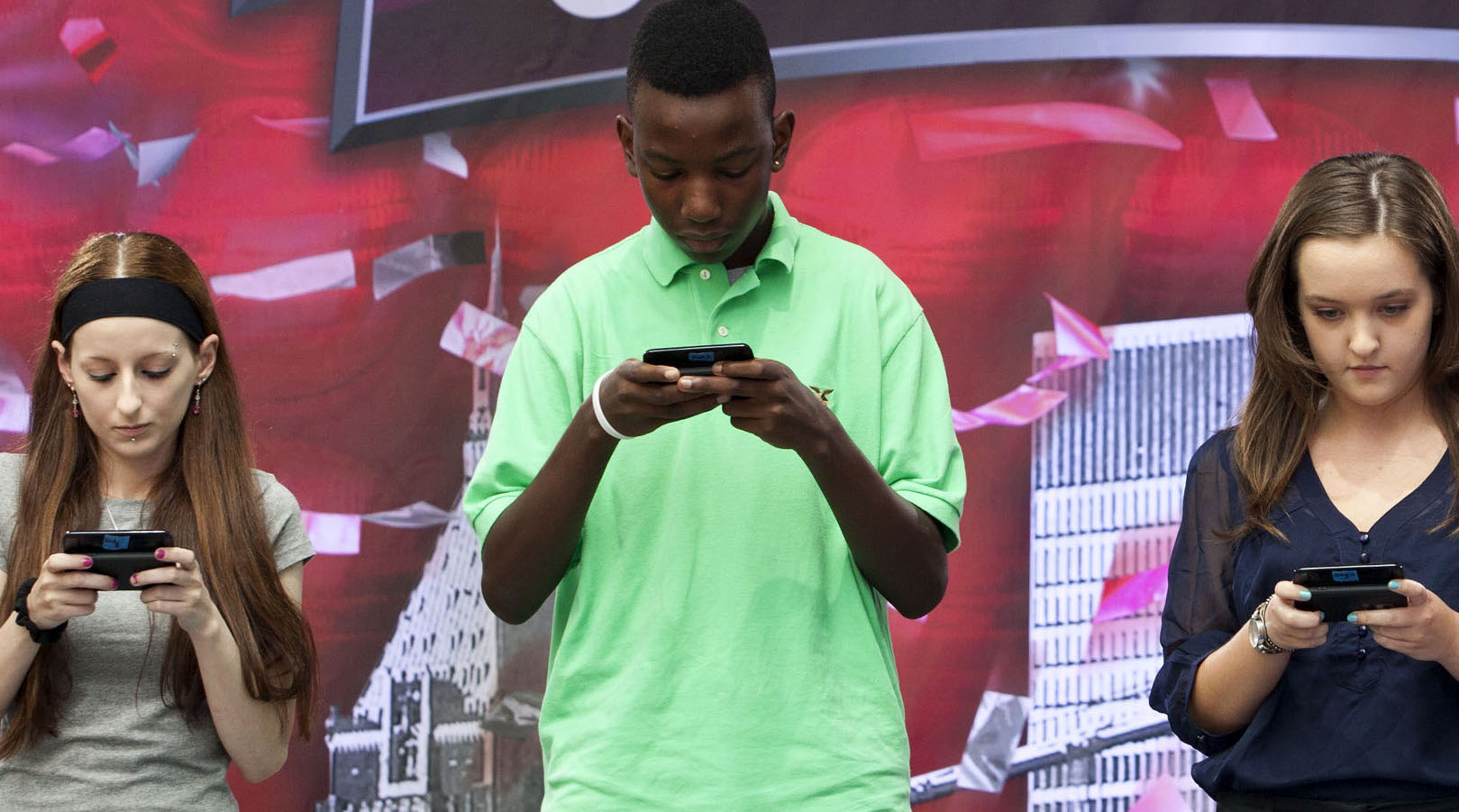 Contestants compete in the 2012 U.S. National Texting Championships in New York