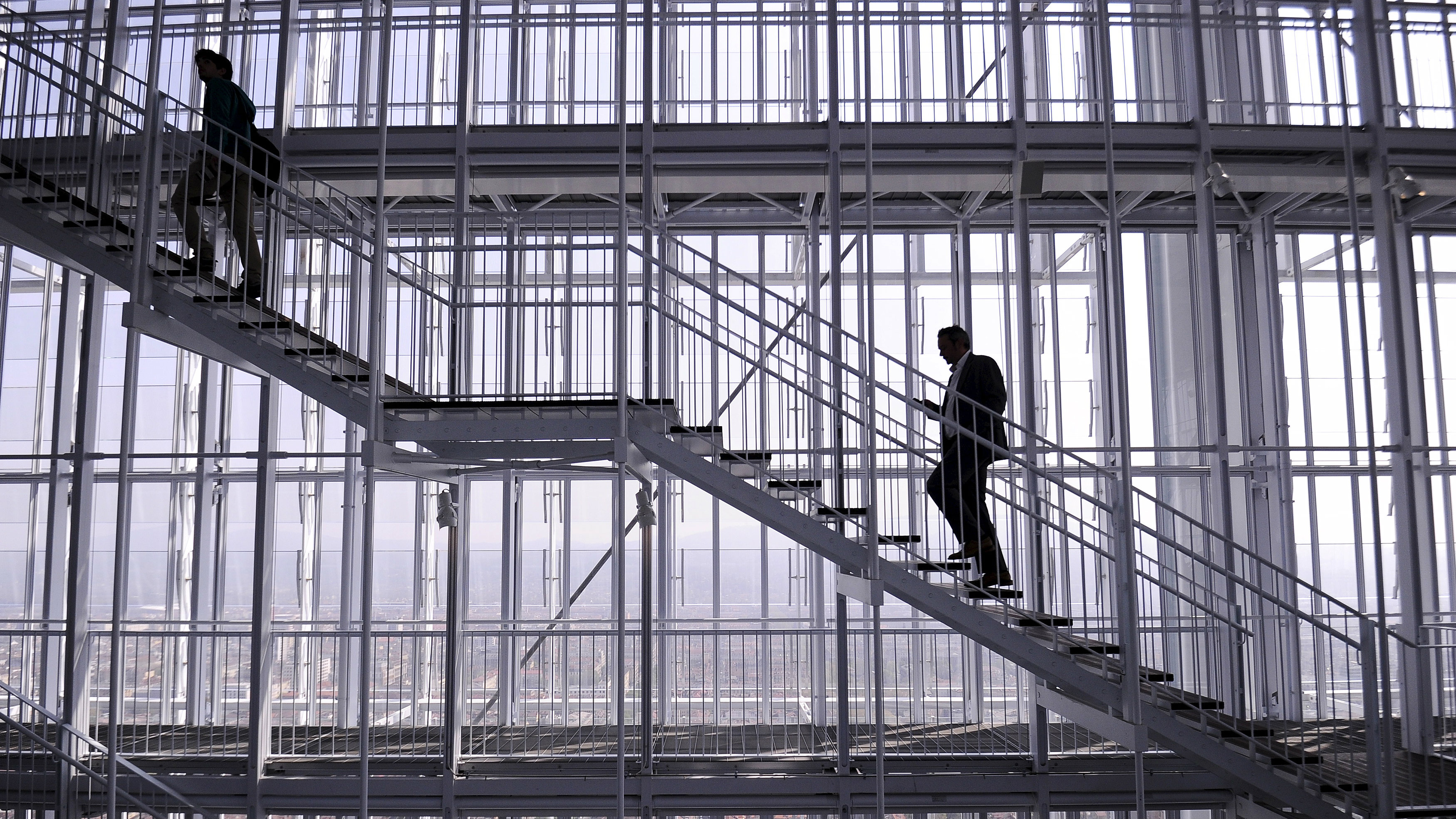 Climbing the ladder of corporate success.
