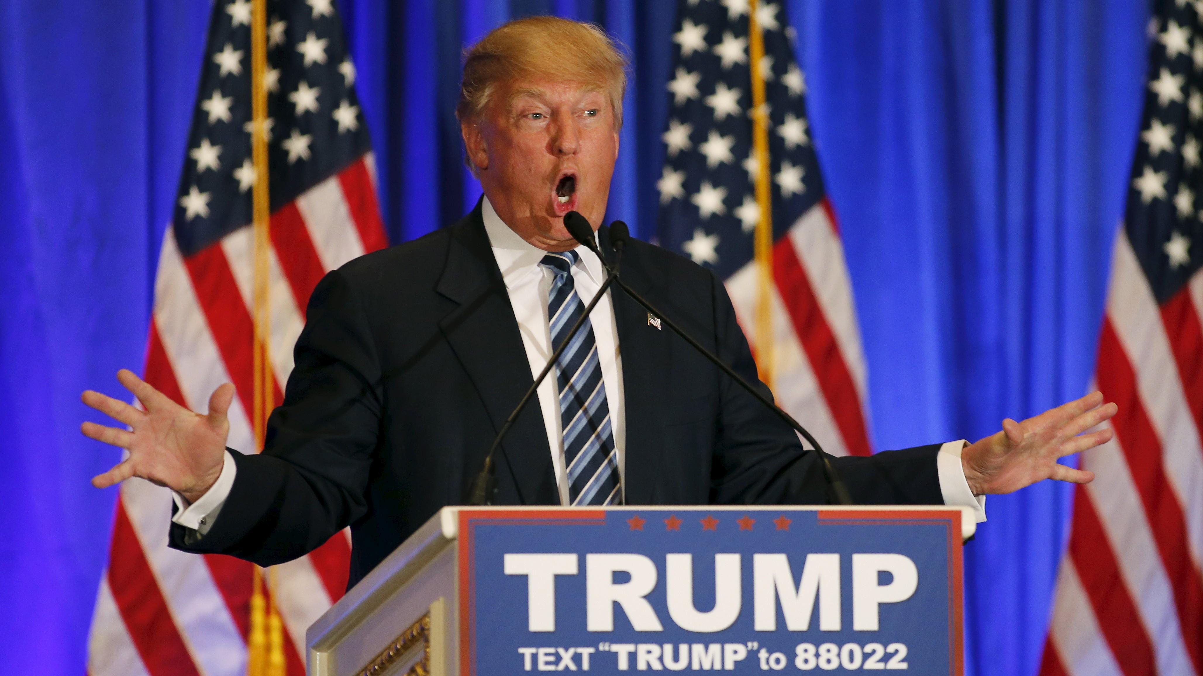 photo of donald trump at podium