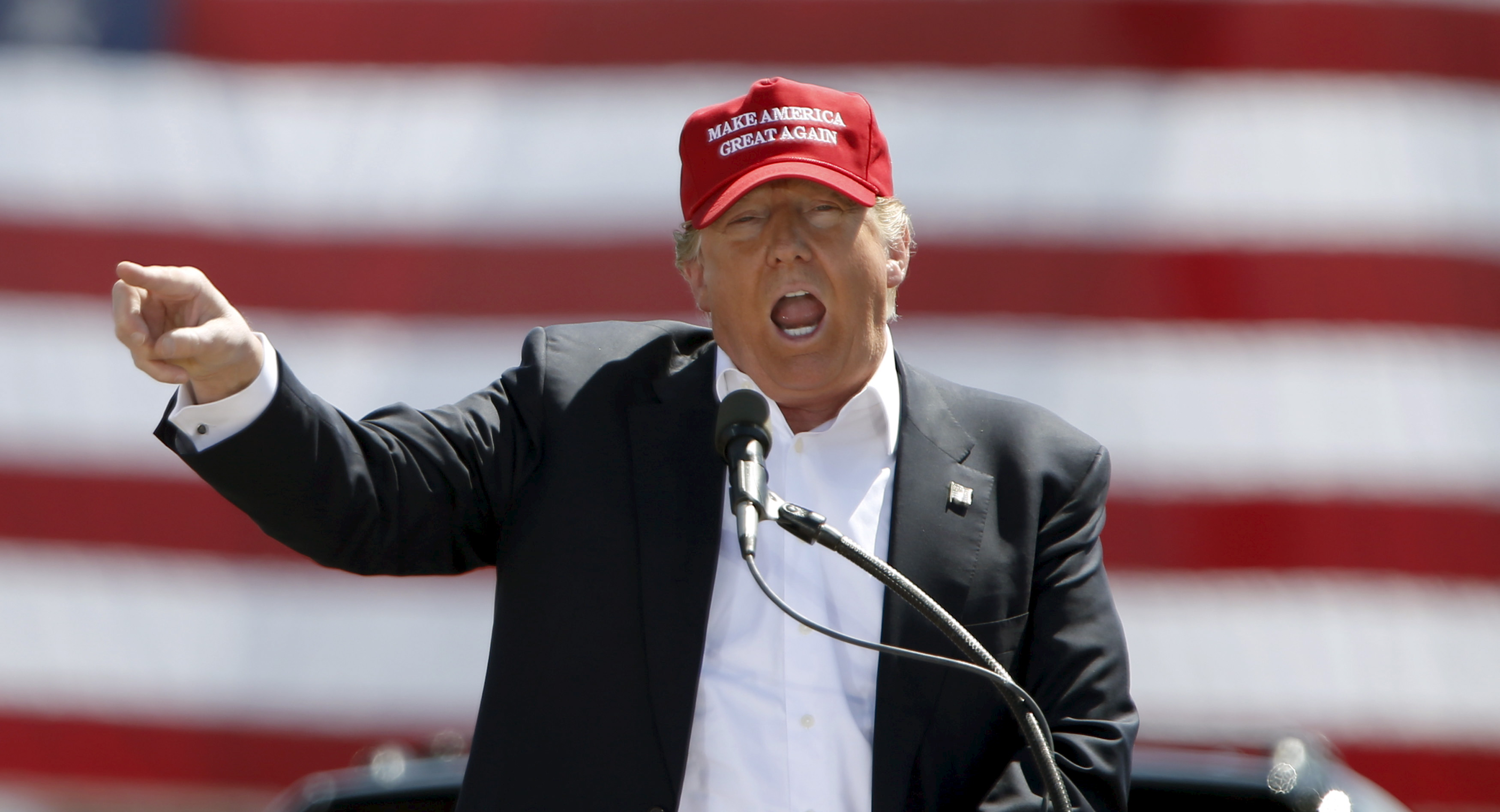 Republican U.S. presidential candidate Trump speaks at a campaign rally in Fountain Hills