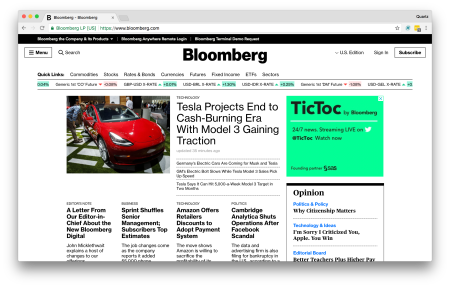 Bloomberg.com on May 2, 2018