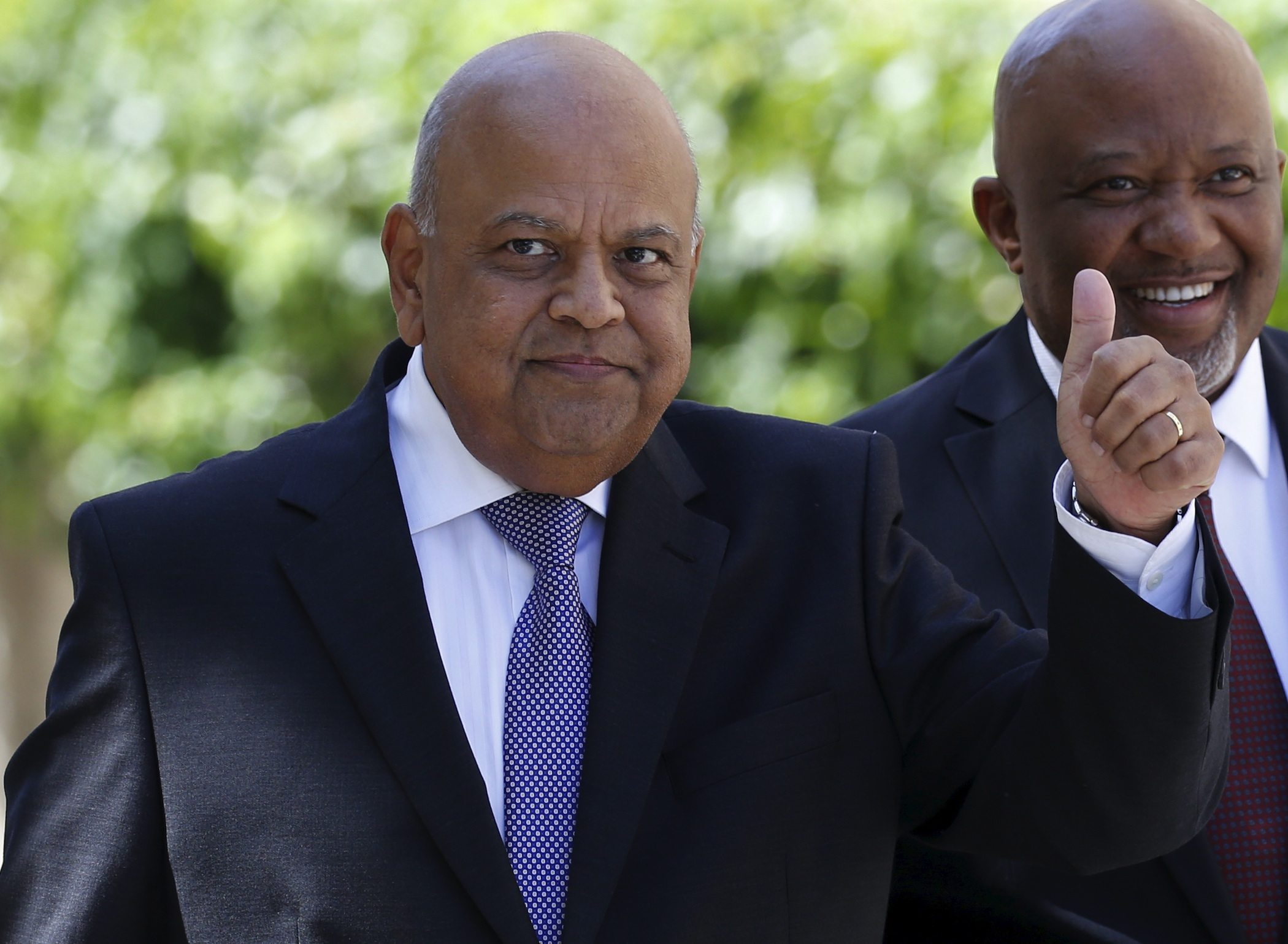 South Africa's finance minister Pravin Gordhan.