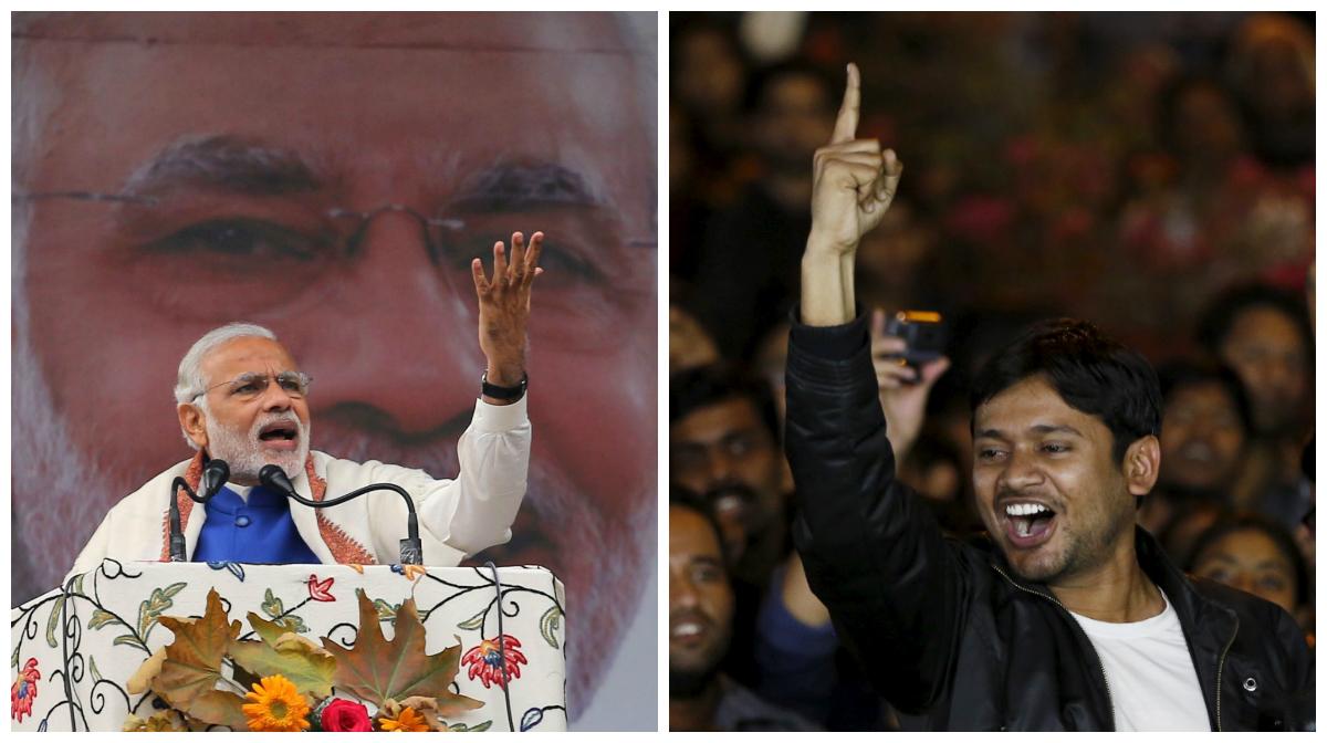 Prime minister Narendra Modi addresses a public rally in Srinagar on Nov. 07, 2015. Kanhaiya Kumar, a Jawaharlal Nehru University (JNU) student union leader, shouts slogans before addressing a meet in New Delhi, India, March 3, 2016.