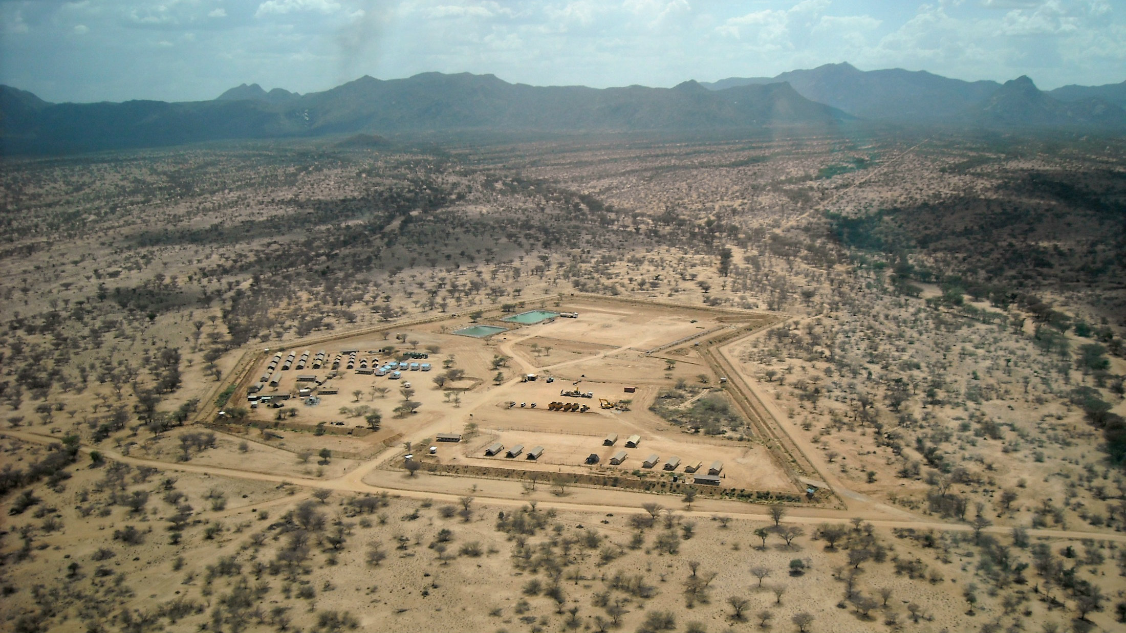 The Ngamia drilling site in Turkana, northwestern Kenya where Kenya first found oil in March 2012