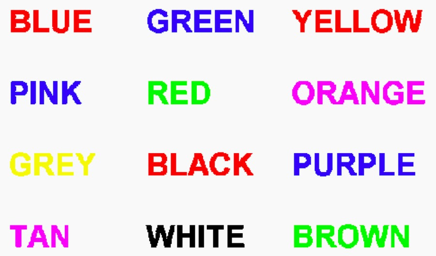 words in colors