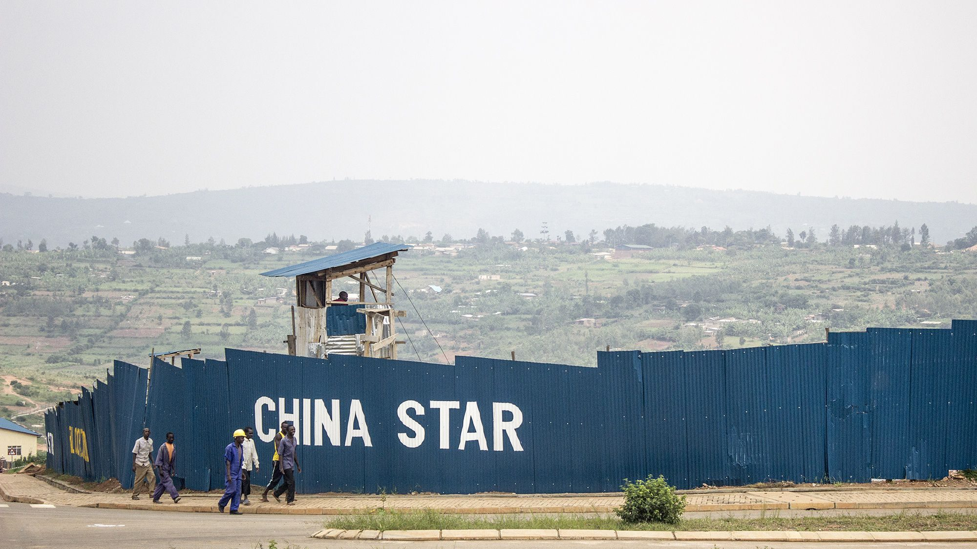 A Chinese construction company's building site in a special economic zone in Kigali, Rwanda.