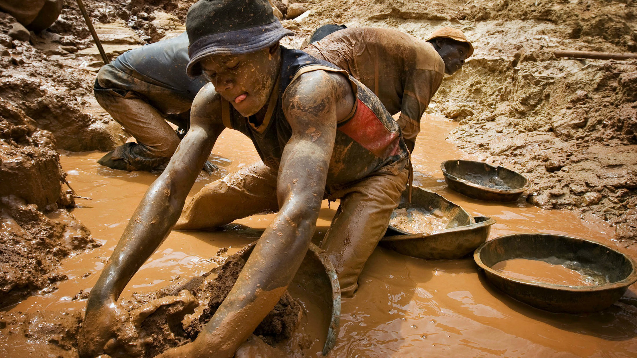 A gold miner in northeastern Congo