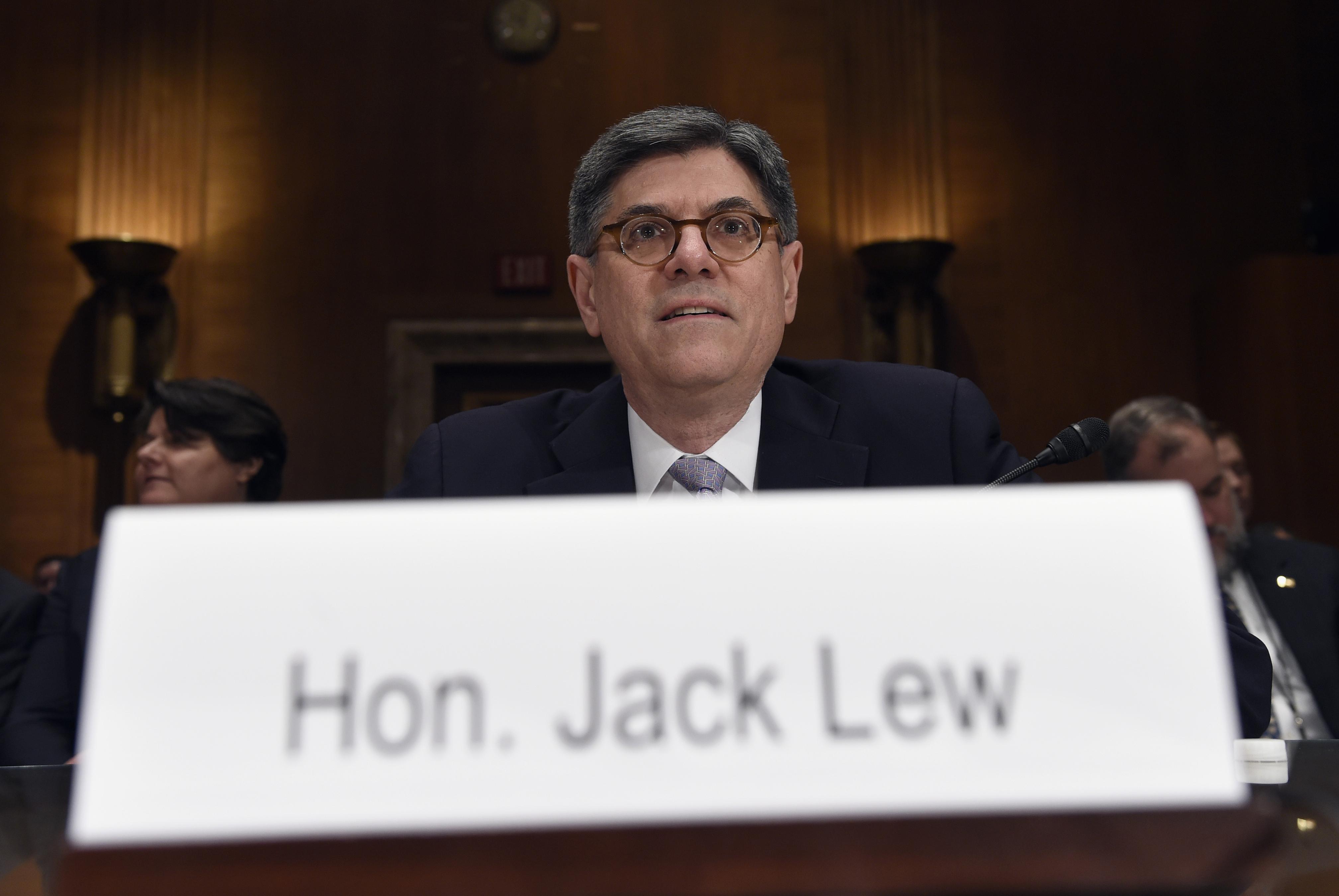 Cracking down: US Treasury secretary Jacob Lew.