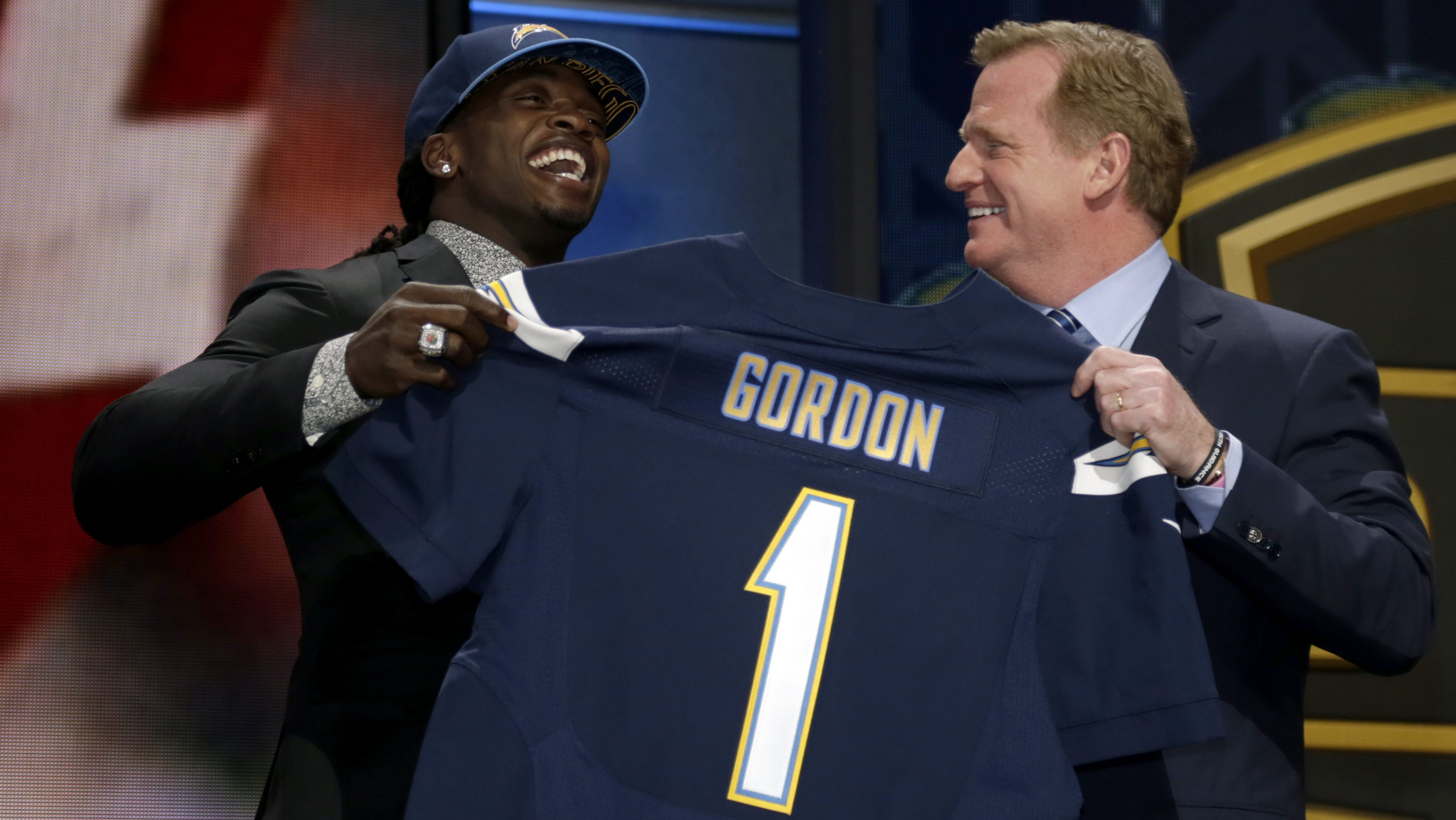 Melvin Gordon, Roger Goodell NFL Draft