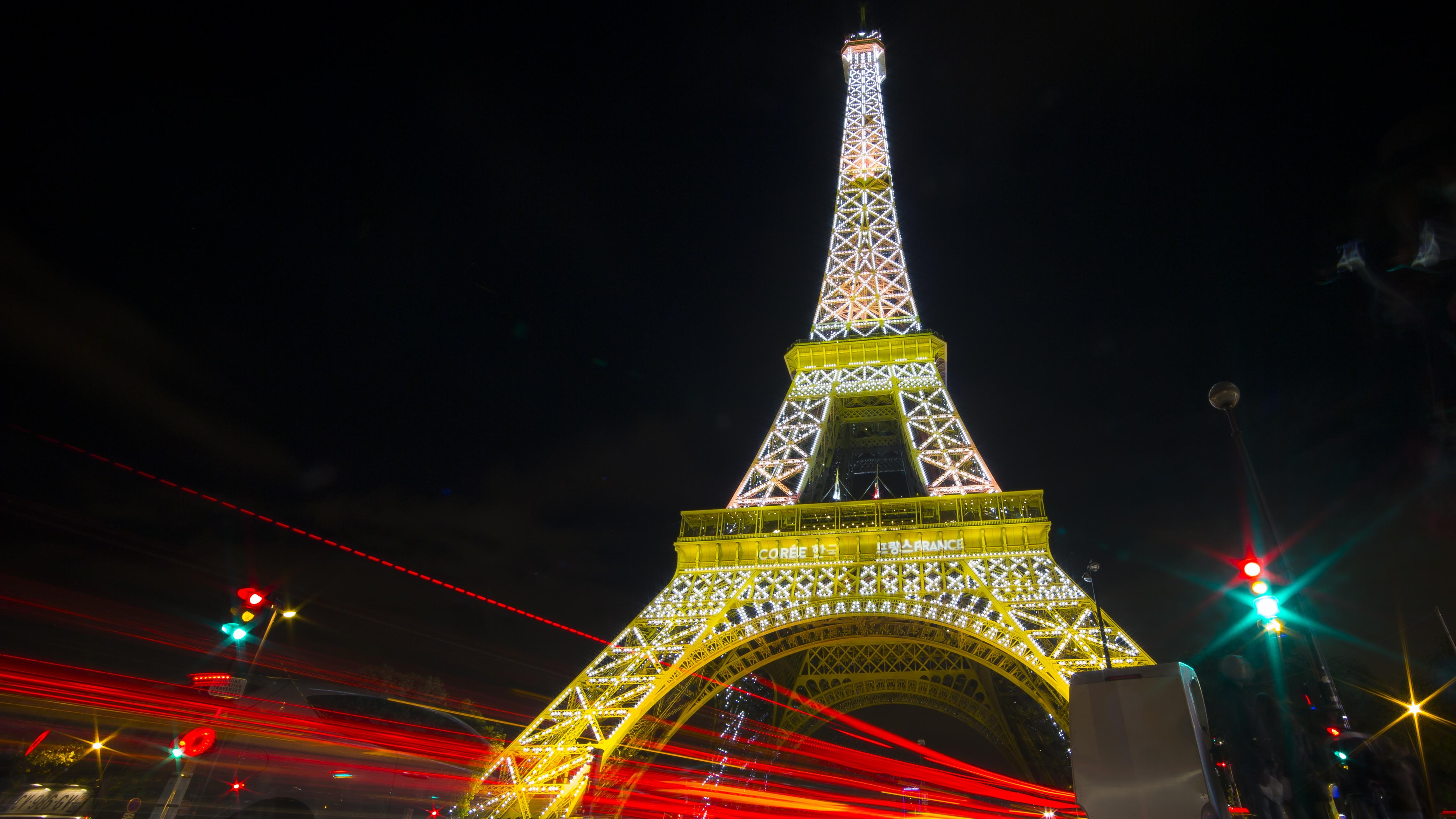 Eiffel Tower in Korean colors