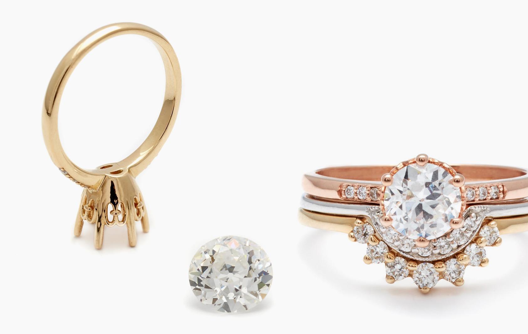 engagement ring, old european cut, anna sheffield