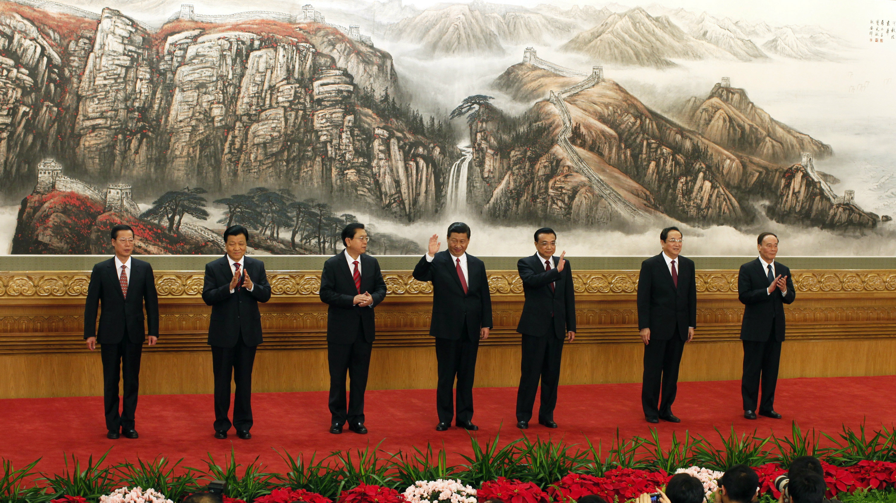 China's top politicians pose.