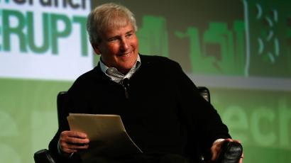 Bill Campbell, chairman of the board and former chief executive of Intuit Inc., smiles as he moderates a fireside chat with Ben Horowitz of Andreessen Horowitz during day one of TechCrunch Disrupt SF 2012 event at the San Francisco Design Center Concourse in San Francisco, California September 10, 2012. REUTERS/Stephen Lam (UNITED STATES - Tags: BUSINESS SCIENCE TECHNOLOGY)