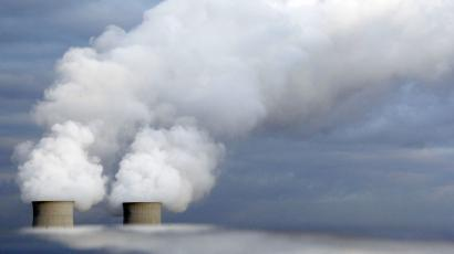 Cooling towers of France's Electricite de France (EDF) nuclear power station