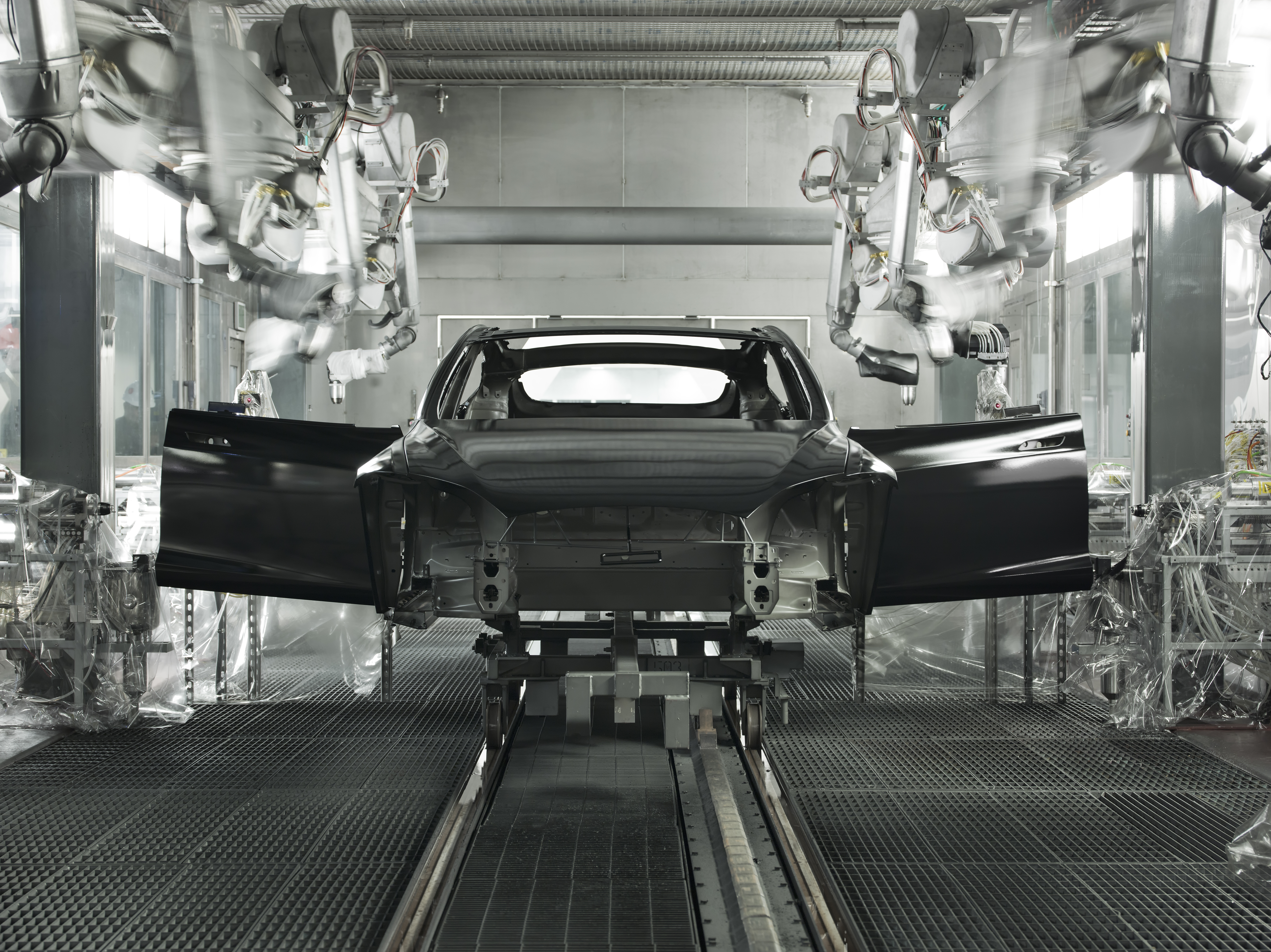 Production at Tesla's assembly plant in Fremont, California.