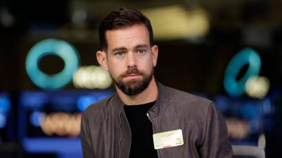 Square CEO Jack Dorsey is interviewed on the floor of the New York Stock Exchange, Thursday, Nov. 19, 2015. (AP Photo/Richard Drew)
