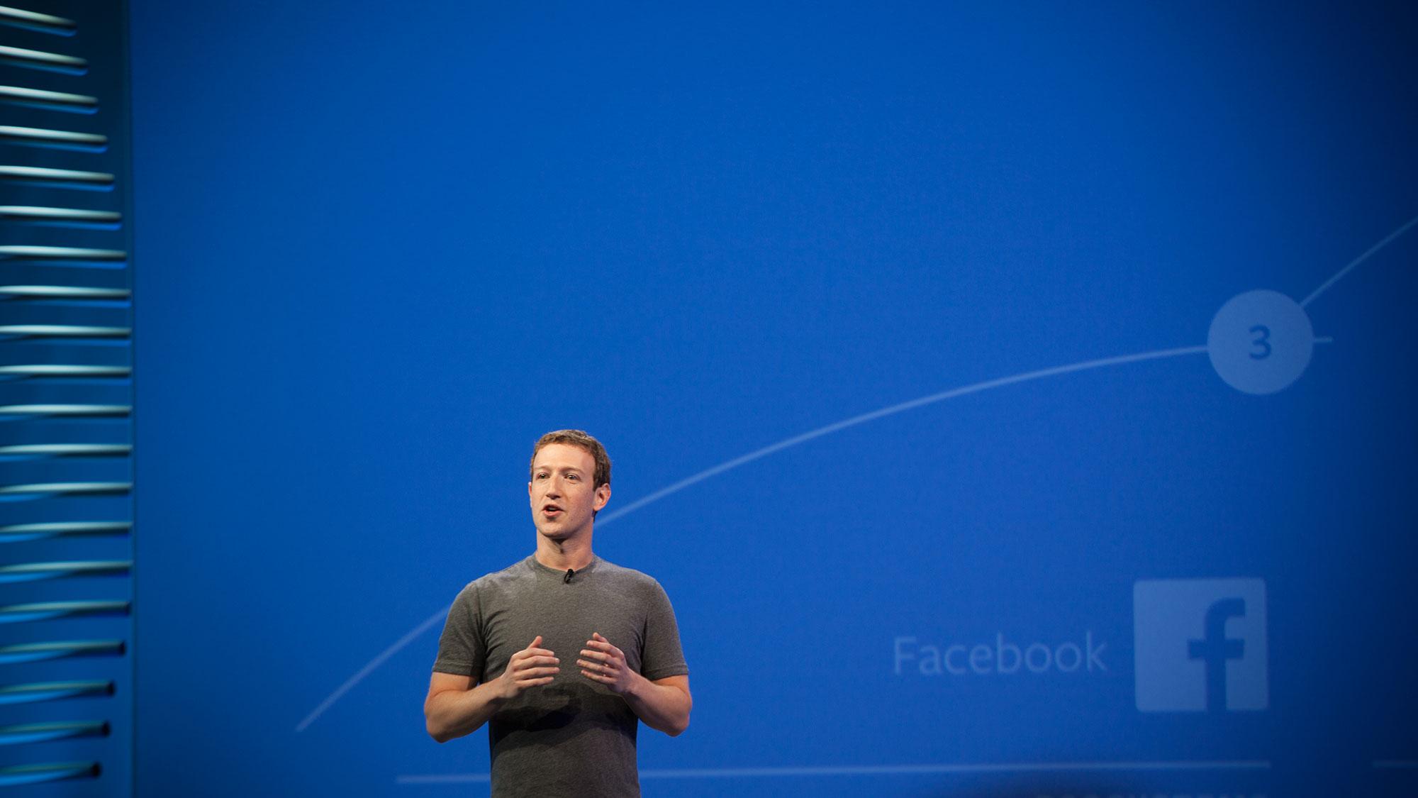 facebook ceo mark zuckerberg at facebook's developer conference f8 in san francisco april 12