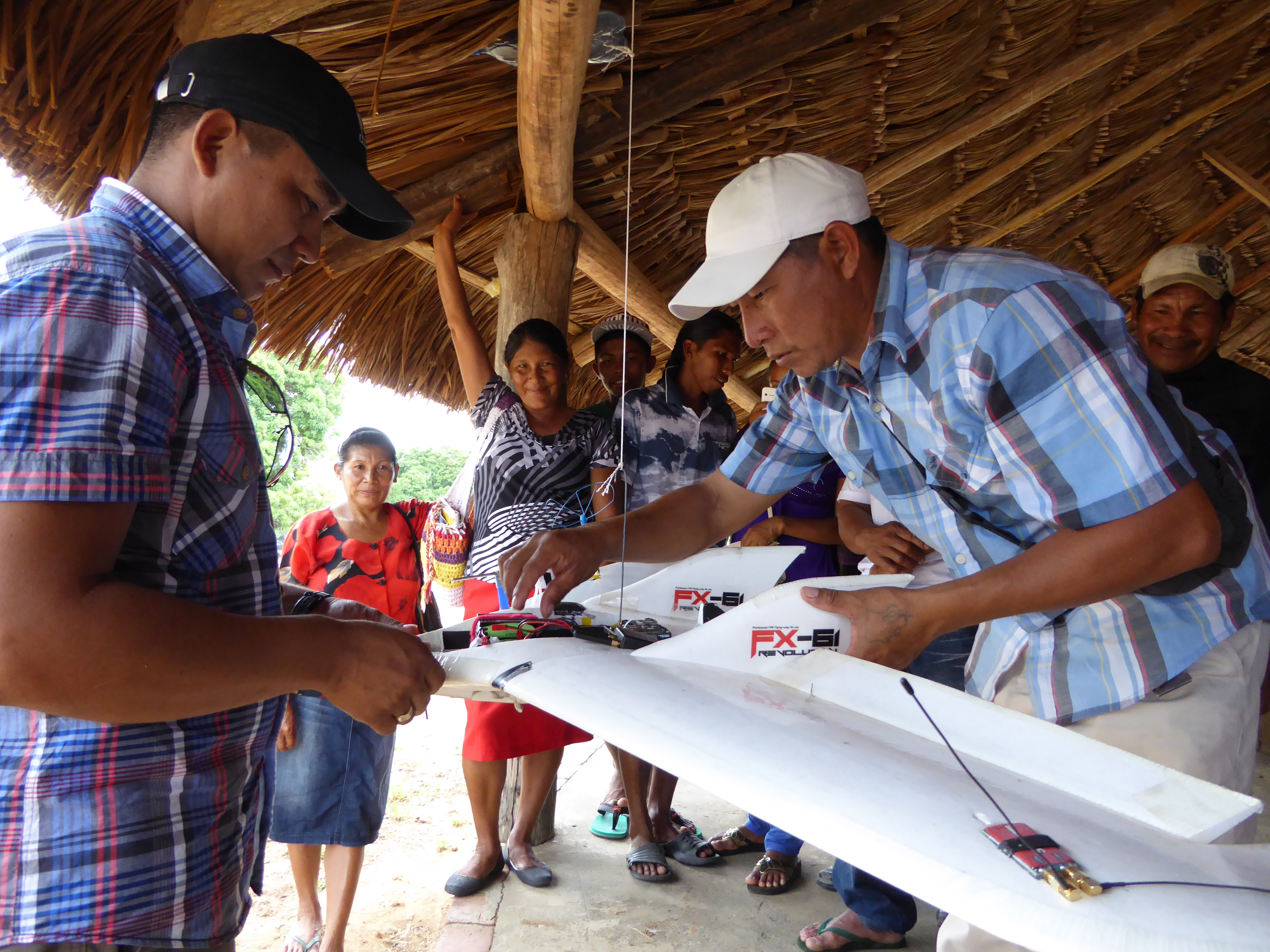 Members of Guyana's Wapichan community built a drone to monitor illegal logging and pollution.