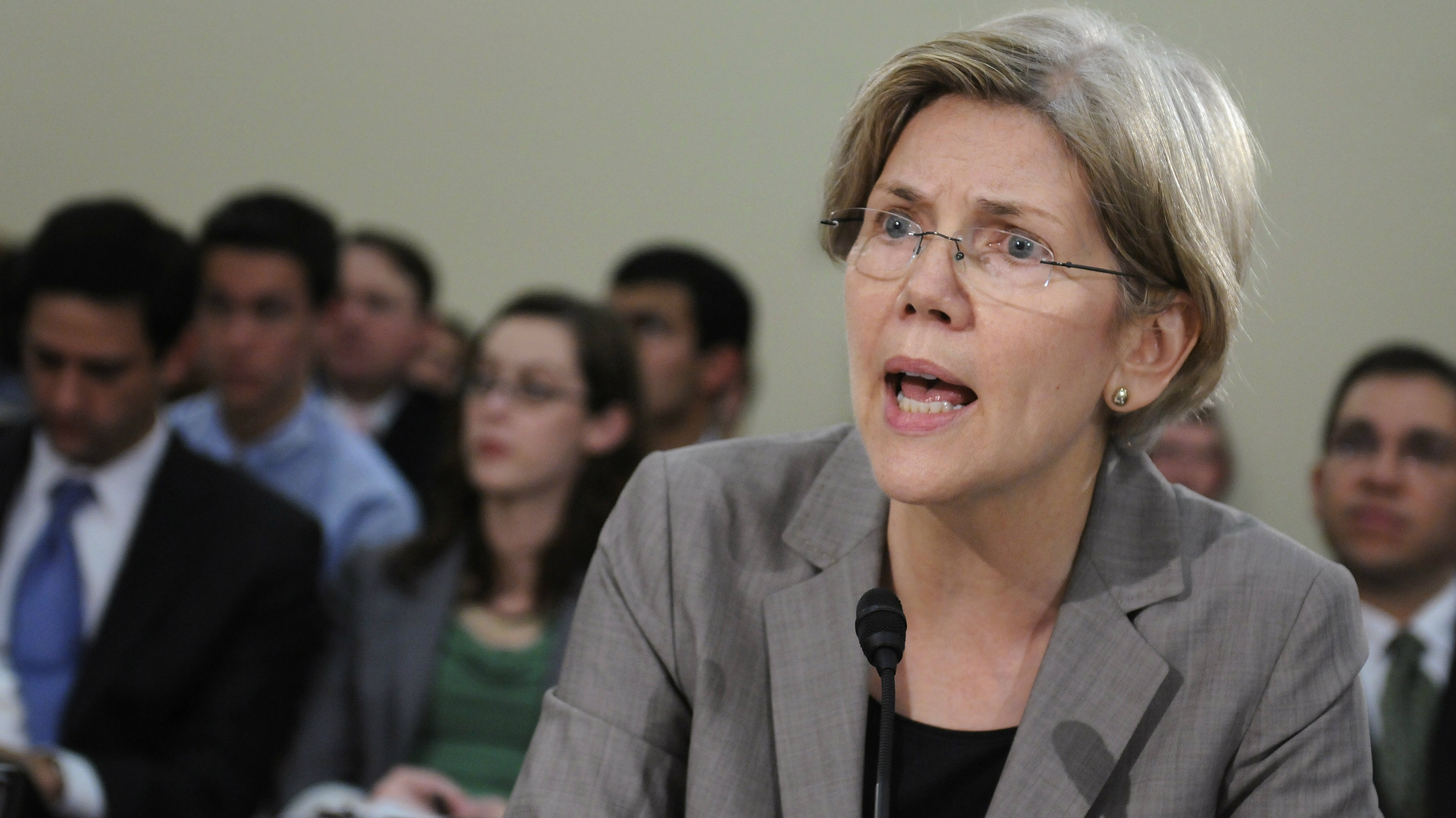 Warren testifies at a hearing about oversight of the Consumer Financial Protection Bureau of the U.S....