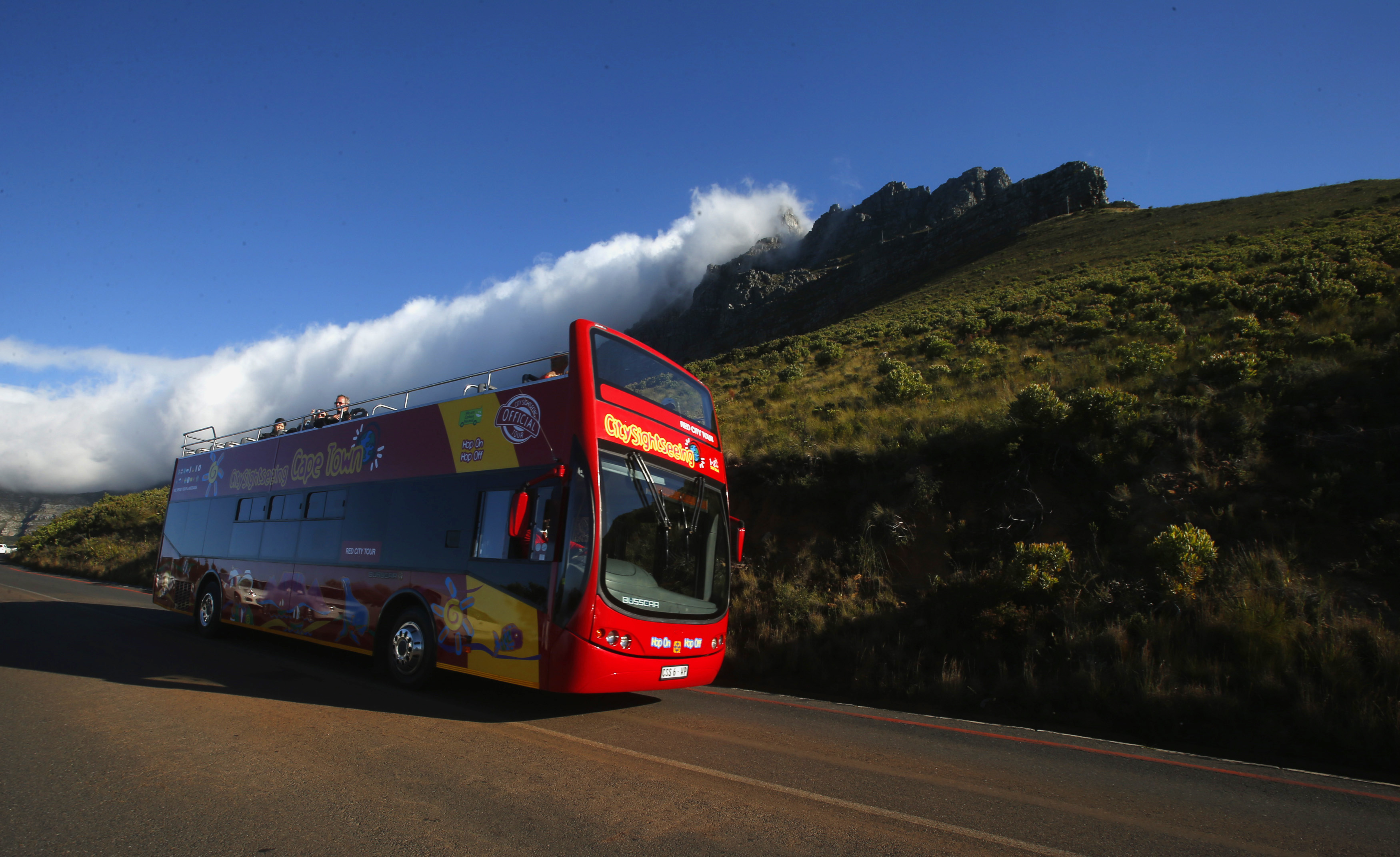 Visitors take in the sights of Cape Town's Table