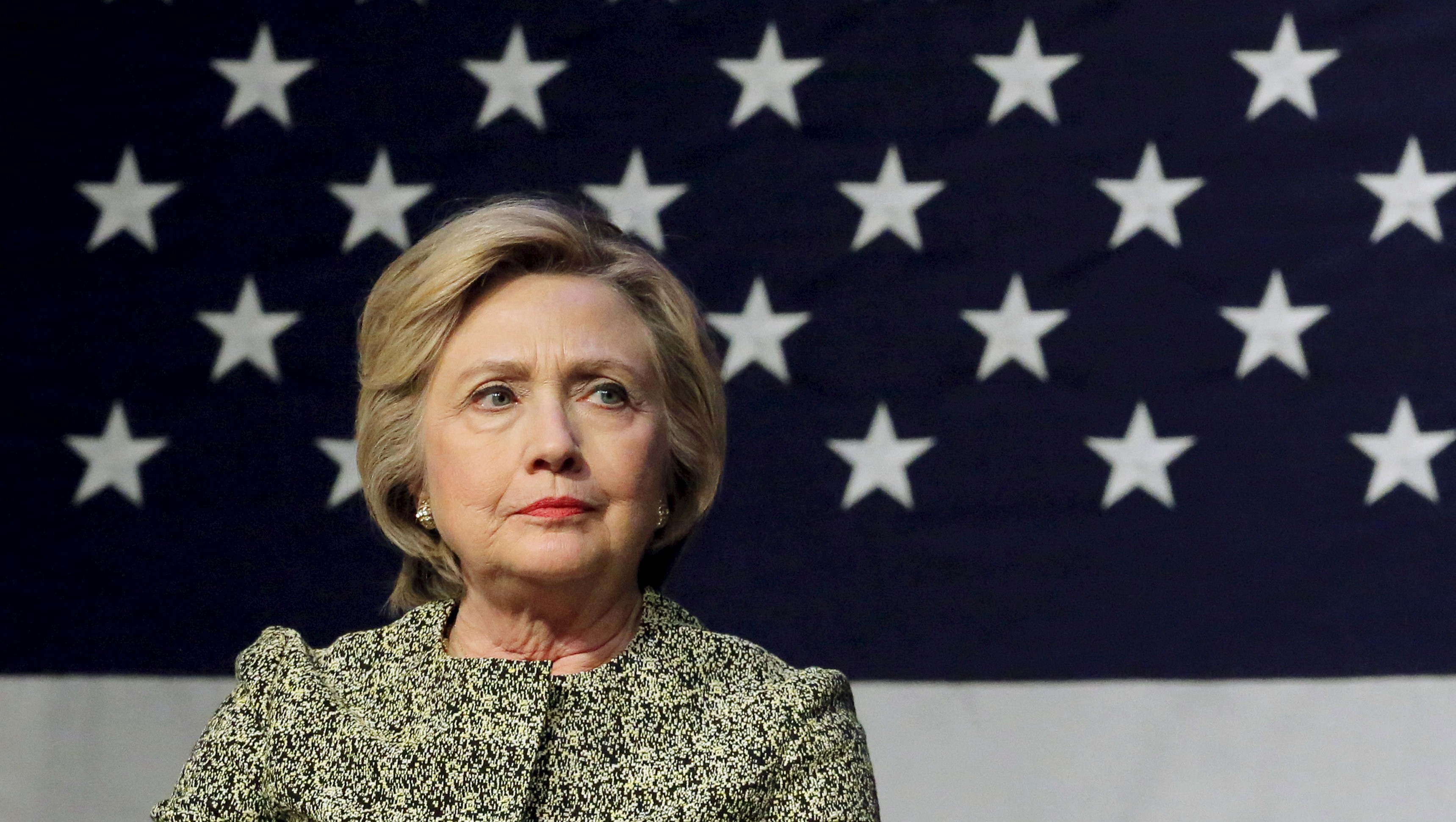 Democratic U.S. presidential candidate Hillary Clinton takes part in a gun control panel in Port Washington, New York