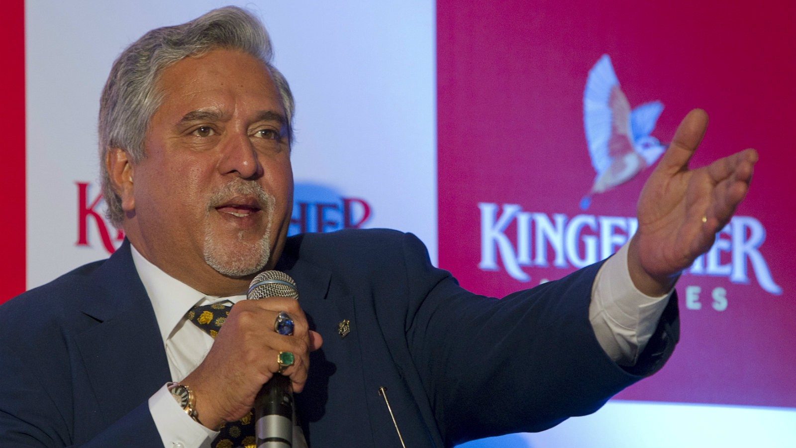 Kingfisher Airlines Chairman Vijay Mallya speaks to the media during a news conference in Mumbai November 15, 2011.