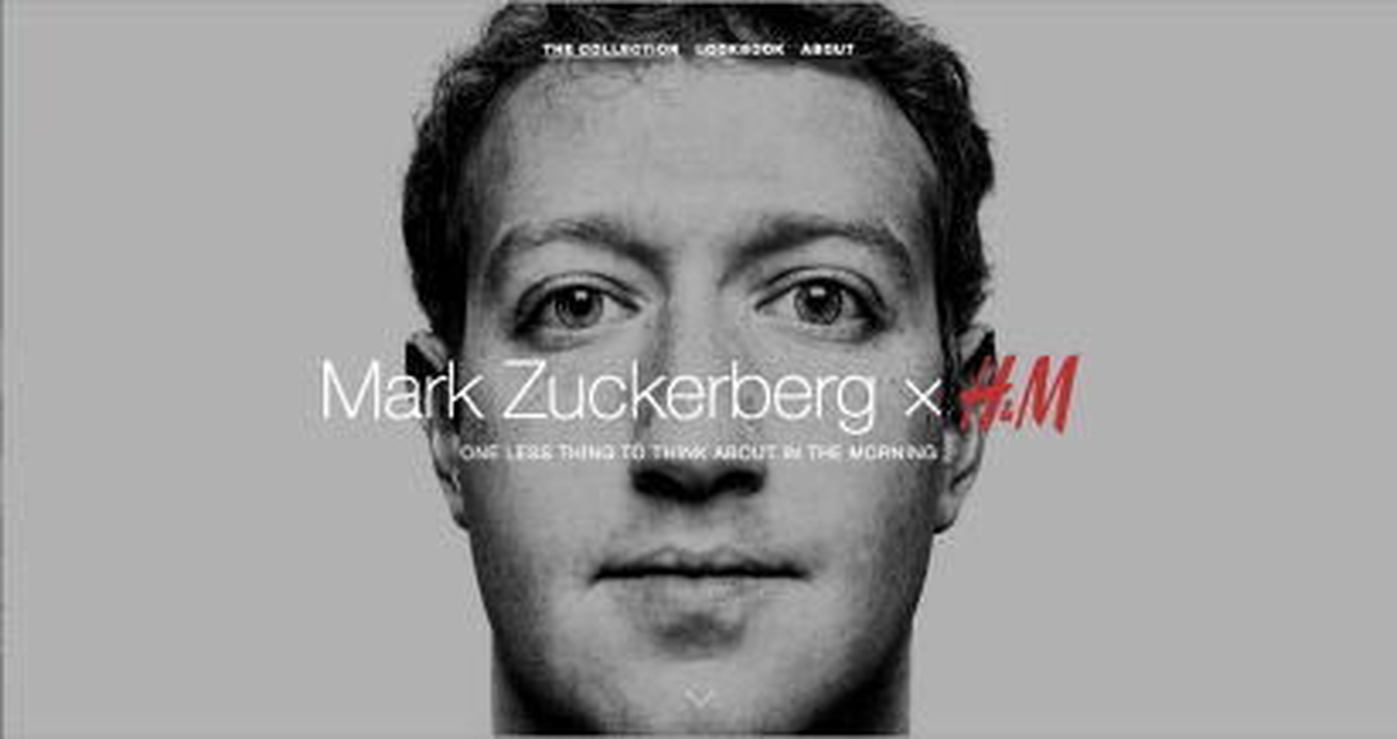 Mark Zuckerberg for H&M