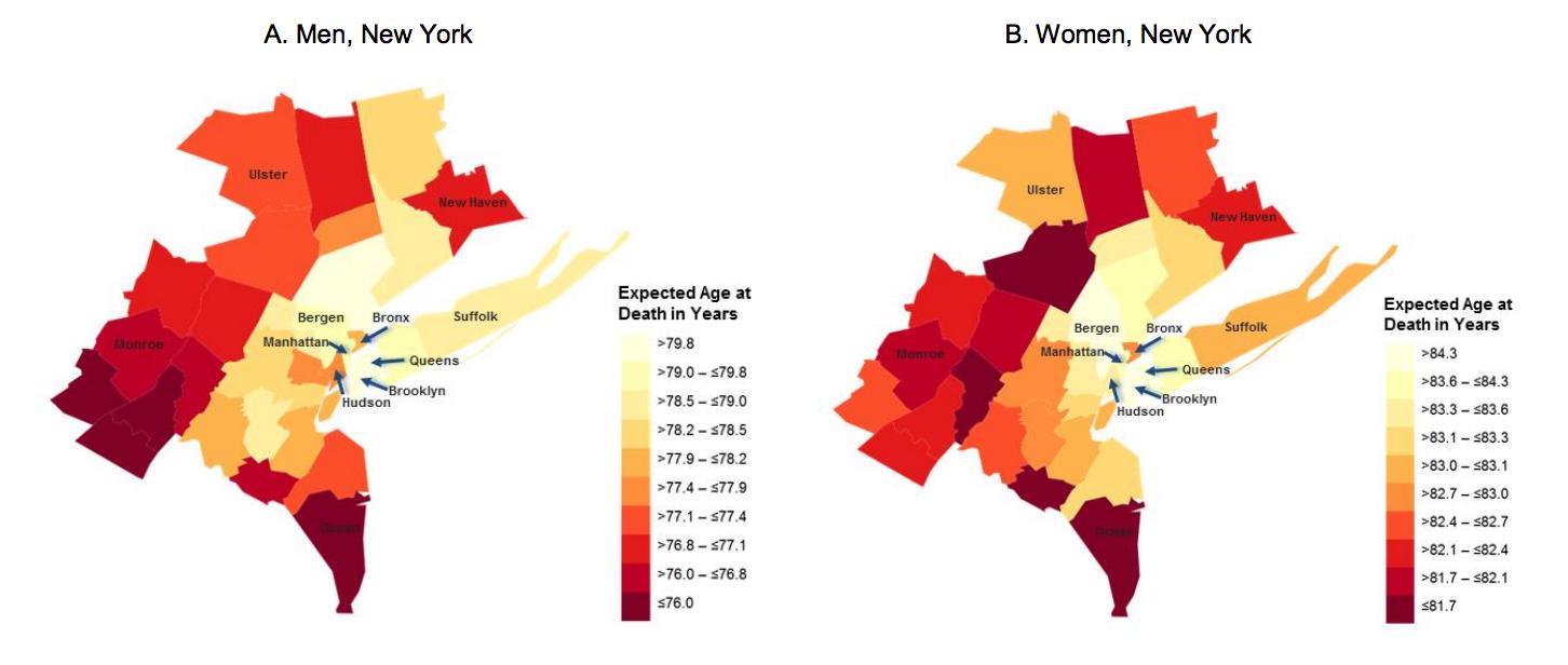 Map Of New York Suburbs.New York Values Help Everyone Live Longer Especially The Poor Quartz