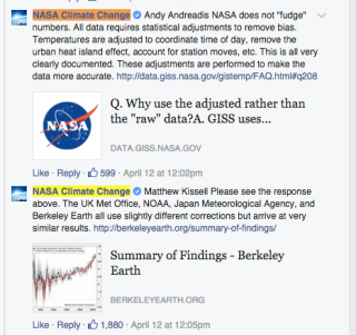 NASA is firing back at climate change deniers.