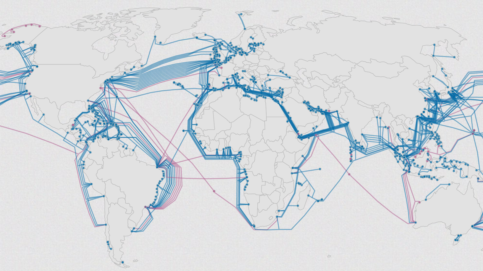 This map shows the construction of every submarine internet ...