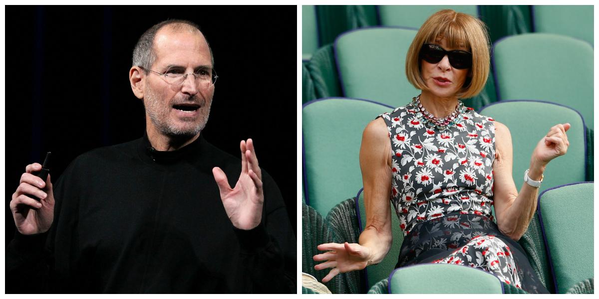 Steve Jobs and Anna Wintour