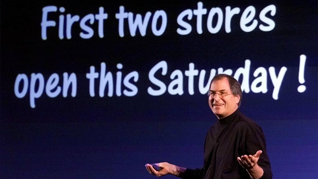 steve jobs first stores
