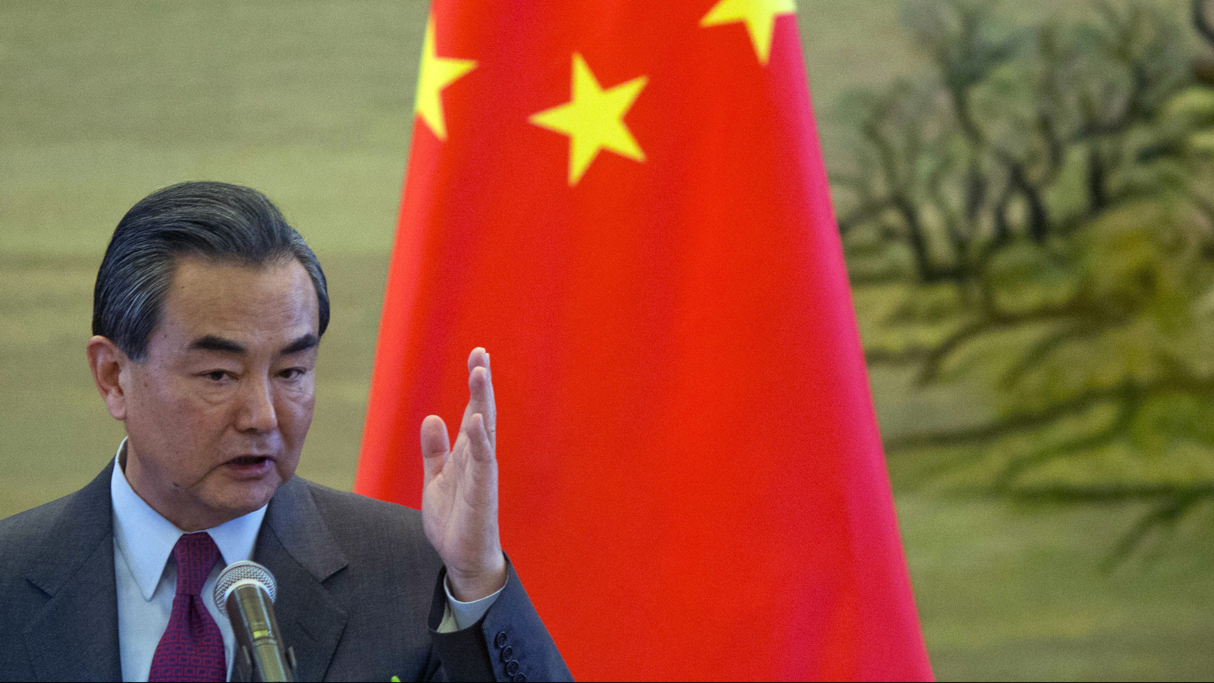 Chinese foreign minister Wang Yi.