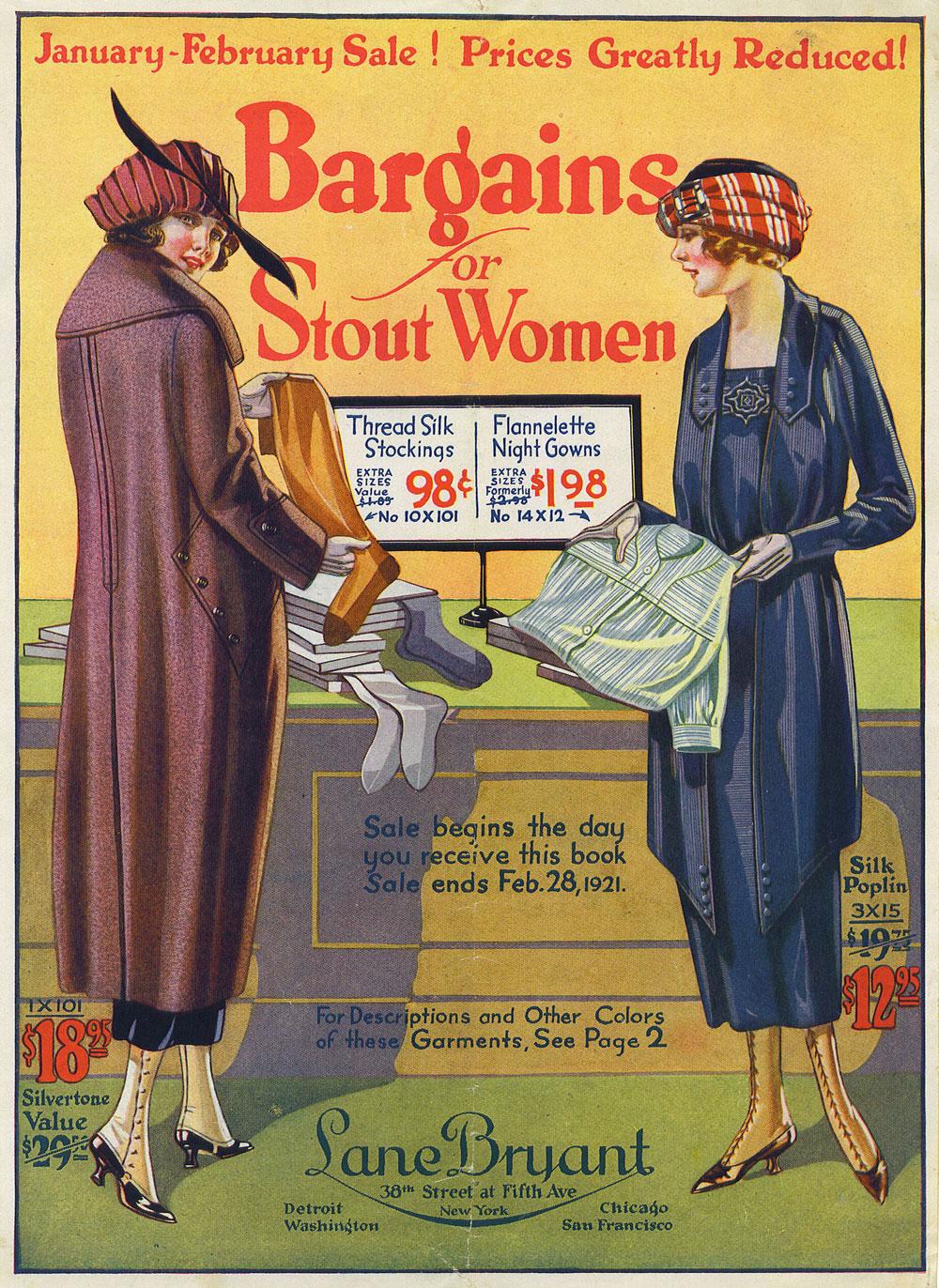 A 1921 ad by Lane Bryant