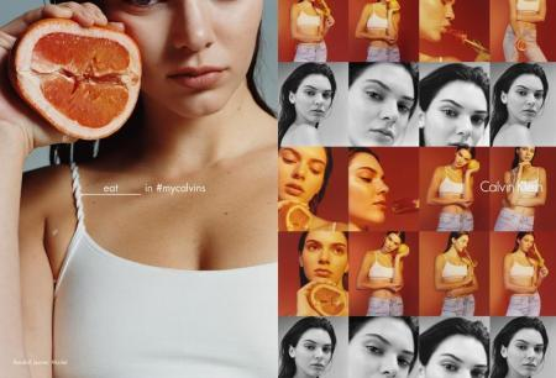 Calvin Klein's grapefruit ad