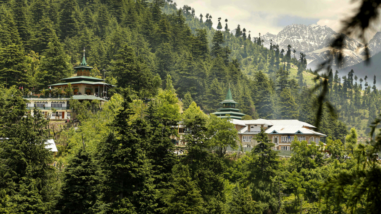 A view of the forest shrine of Miyan Peer, the revered Muslim saint of the nomadic Gujjar tribe in Baba Nagri, about 44 kilometers (28 miles) northeast of Srinagar, Indian controlled Kashmir, Monday, June 8, 2015. Thousands of devotees thronged the shrine Monday to observe the death anniversary of the saint.