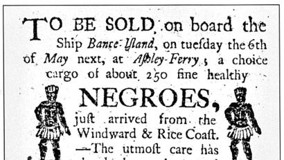Slavery Auction Advertisement