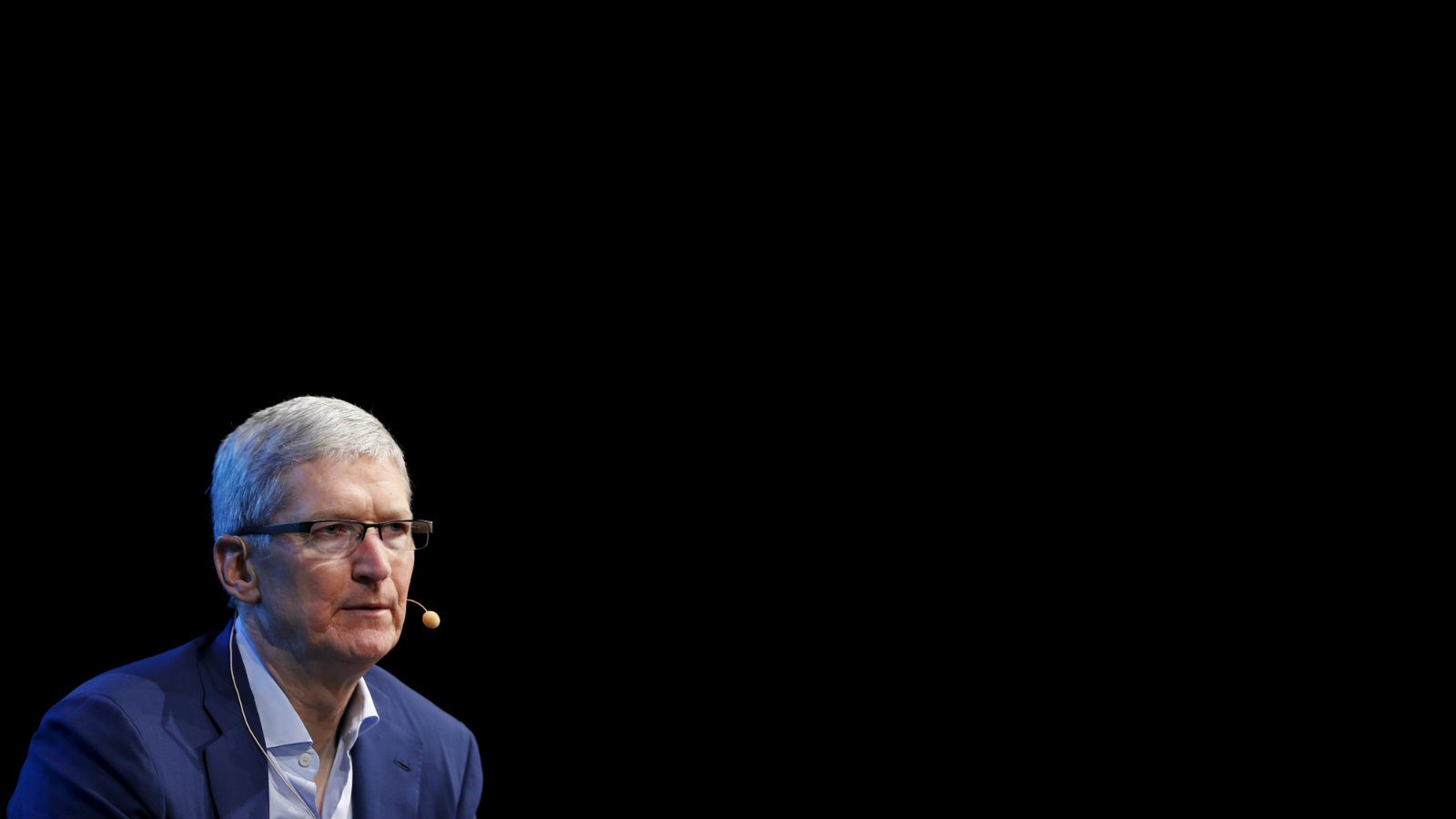 Apple CEO Tim Cook speaks during the Wall Street Journal Digital Live ( WSJDLive ) conference at the Montage hotline Laguna Beach, California October 19, 2015.