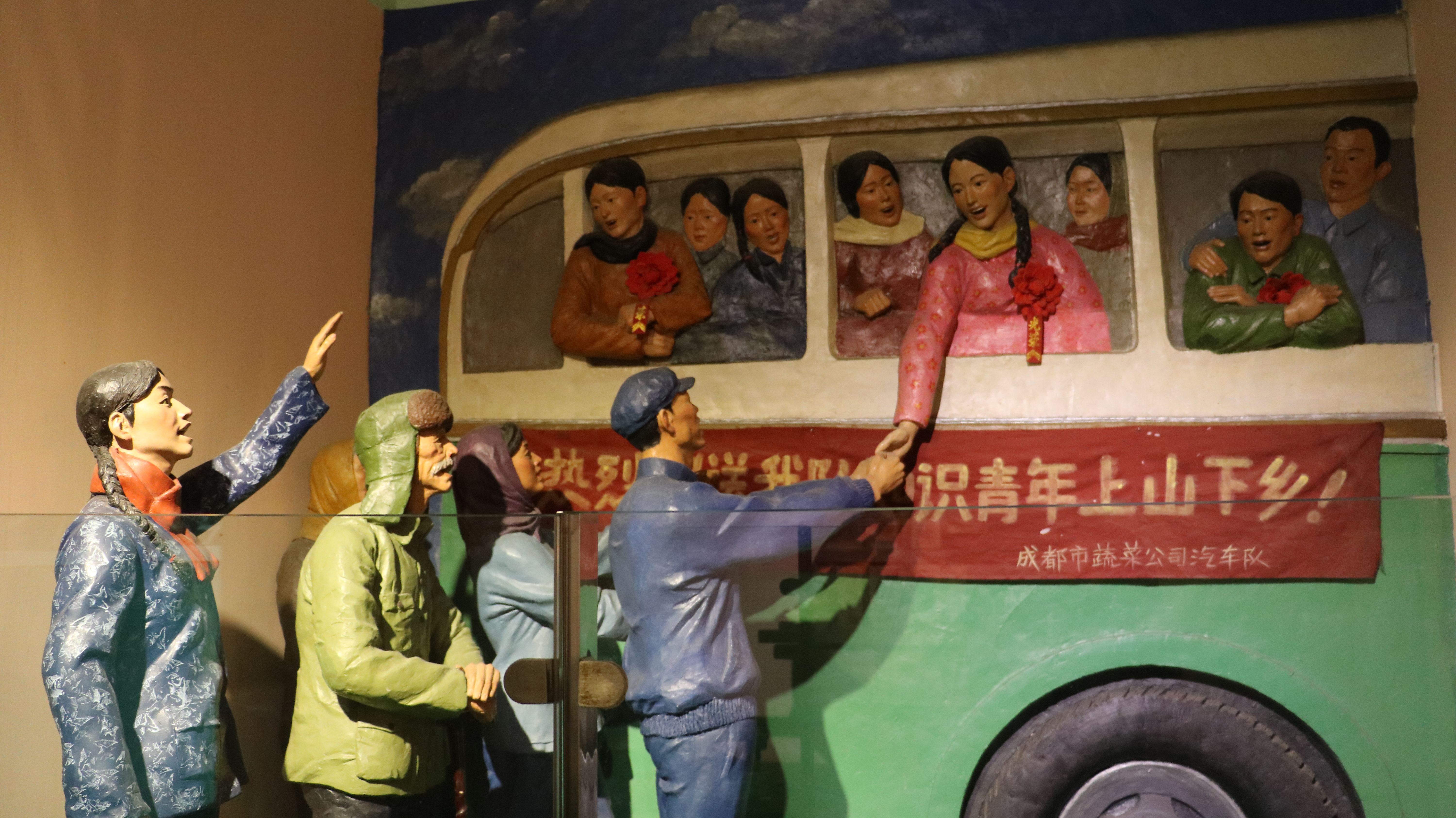"""Off to be """"educated"""": an exhibit at the Jianchuan Museum Cluster."""