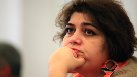 Azerbaijani journalist Khadija Ismayilova was arrested in 2014 for investigating allegations of corruption against the president's family.