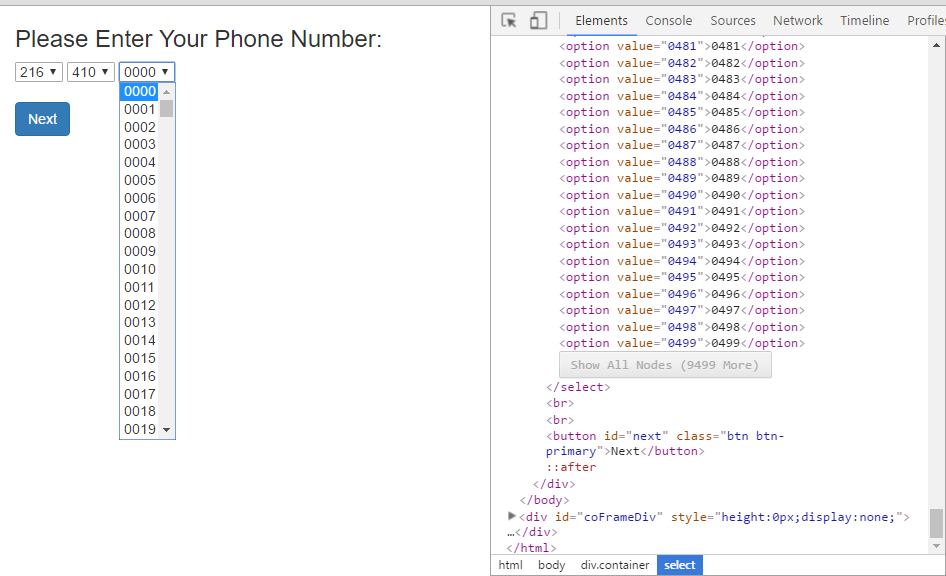 Programmers imagine the most ridiculous ways to enter a phone number