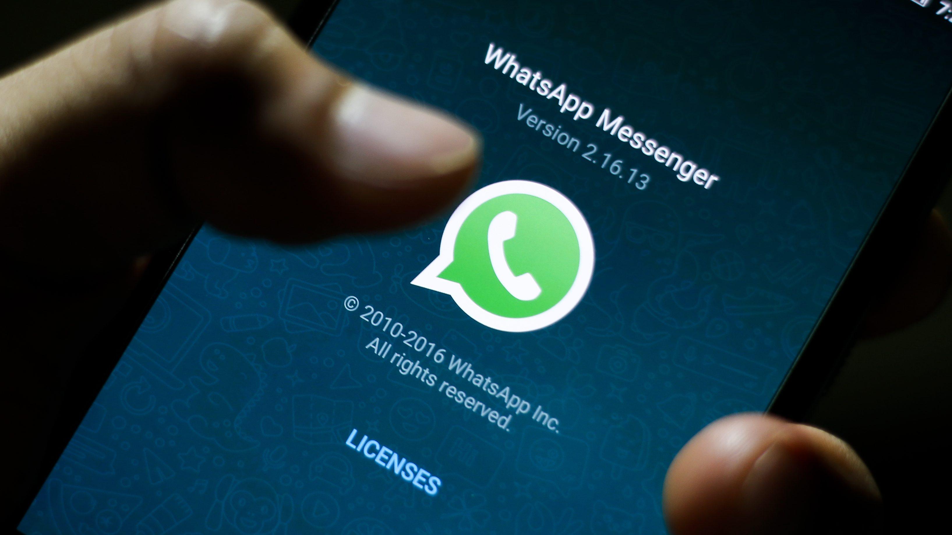 Online messaging applications WhatsApp